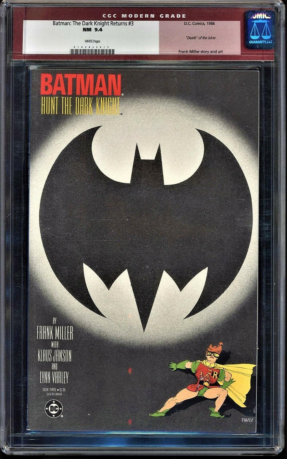 Batman: The Dark Knight Returns #3 CGC 9.4 w