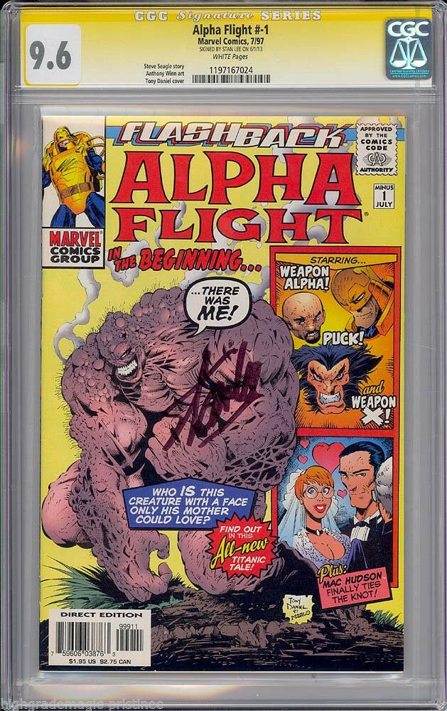 Alpha Flight #1 CGC 9.6 w CGC Signature SERIES