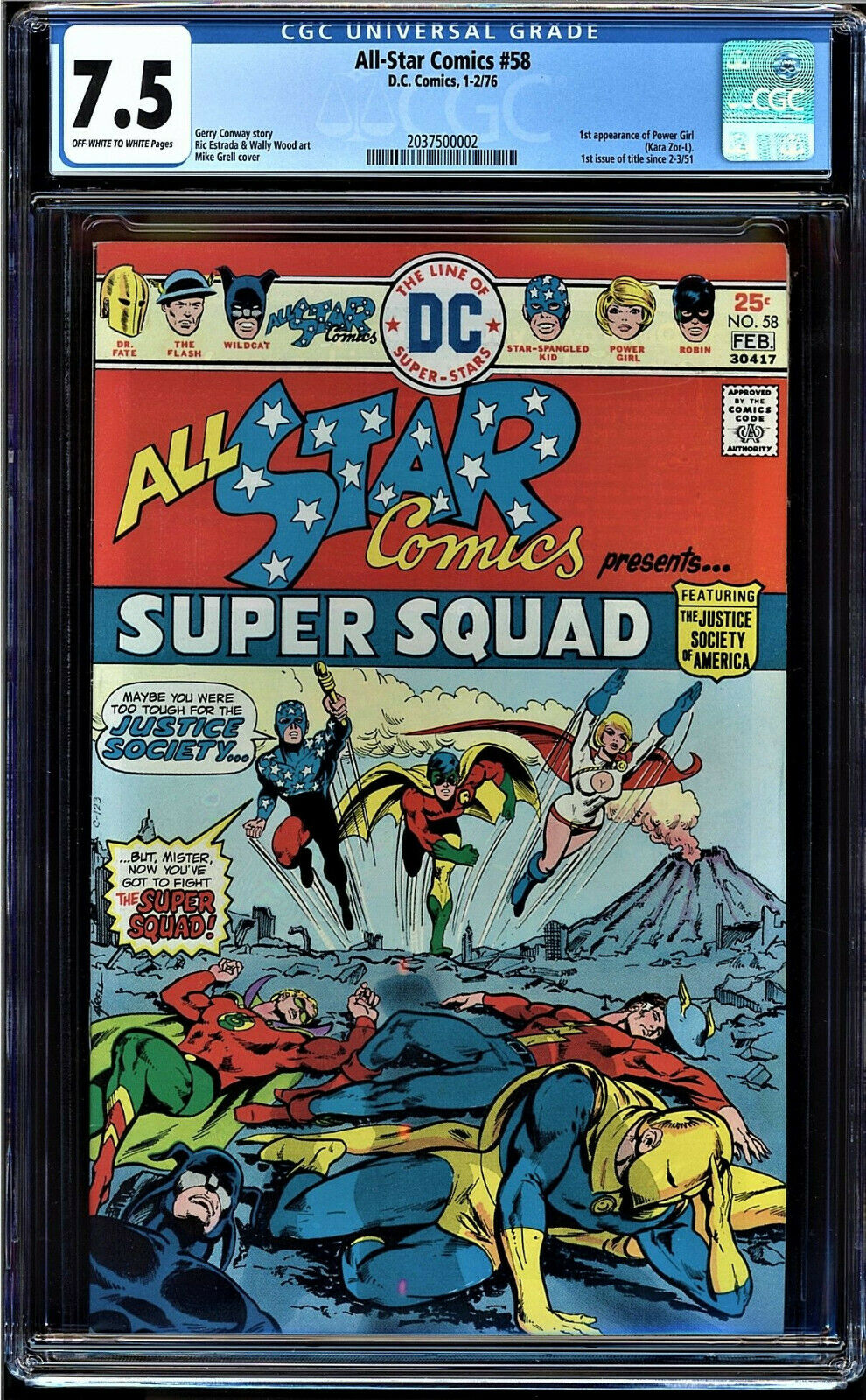 All Star Comics #58 CGC 7.5 ow/w