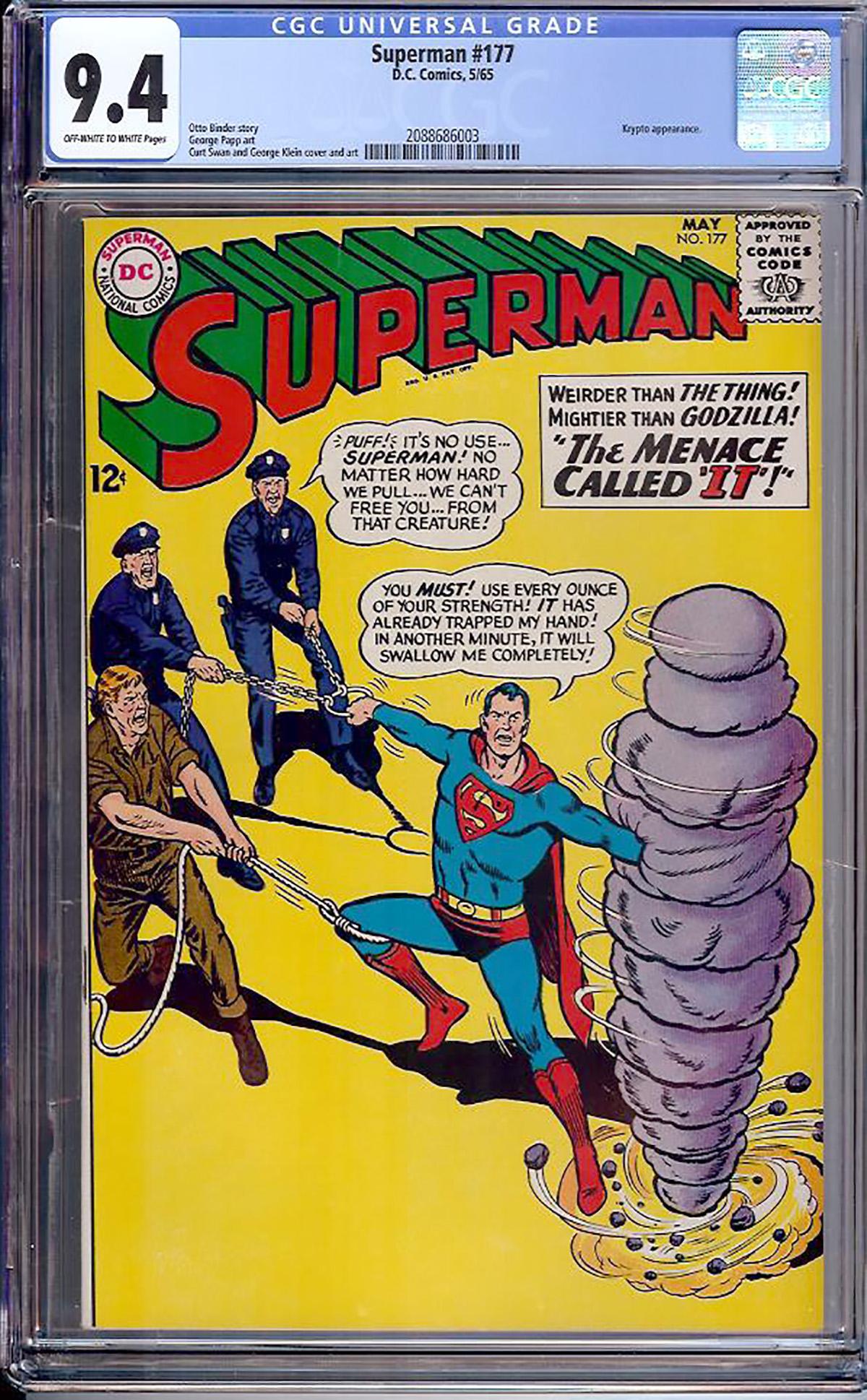 Superman #177 CGC 9.4 ow/w