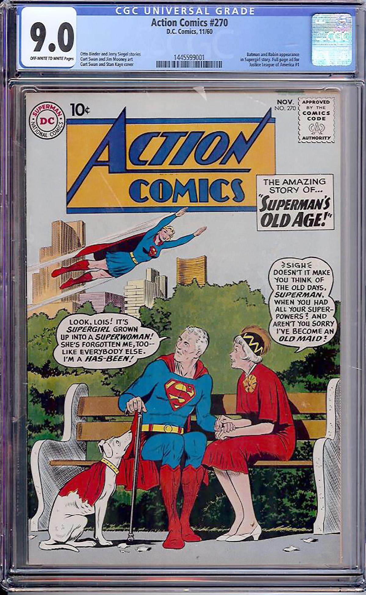 Action Comics #270 CGC 9.0 ow/w