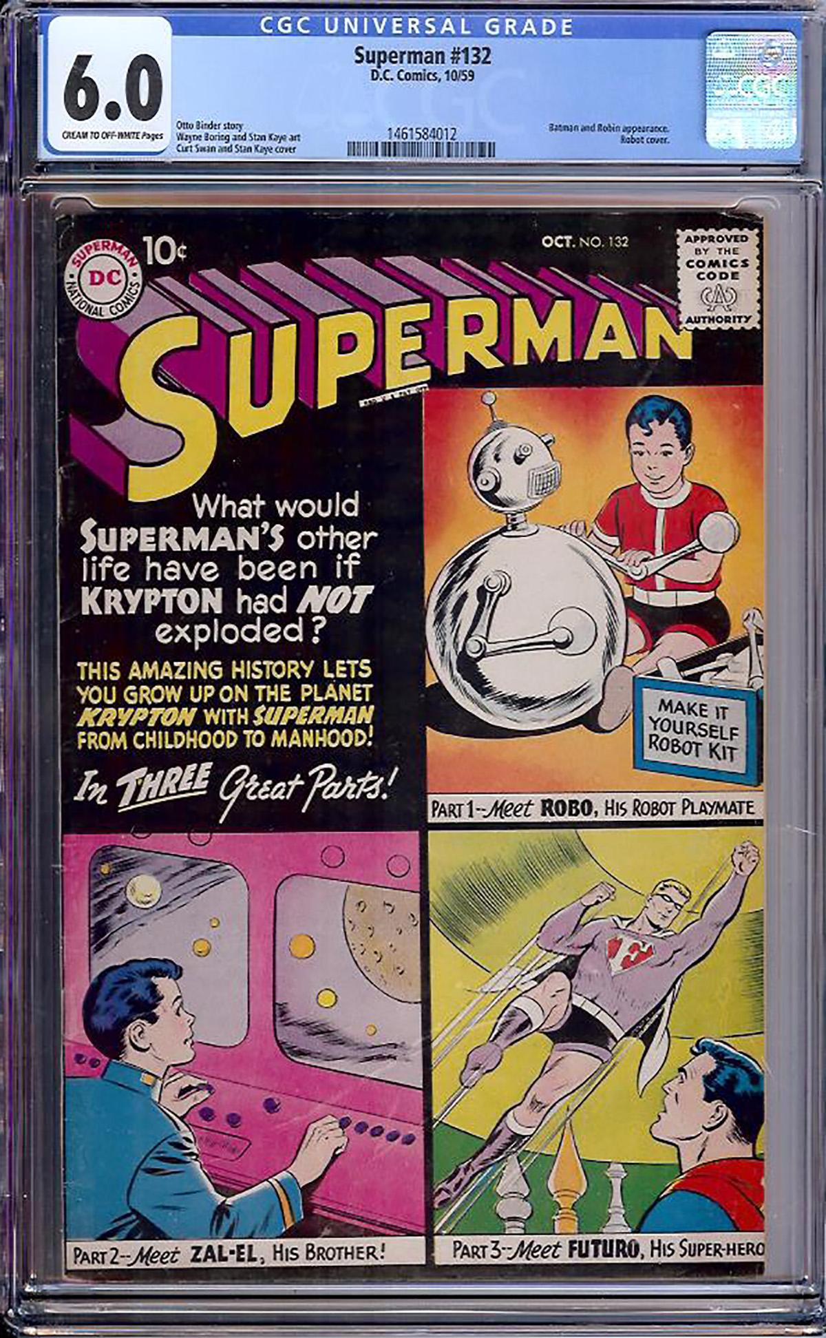 Superman #132 CGC 6.0 cr/ow