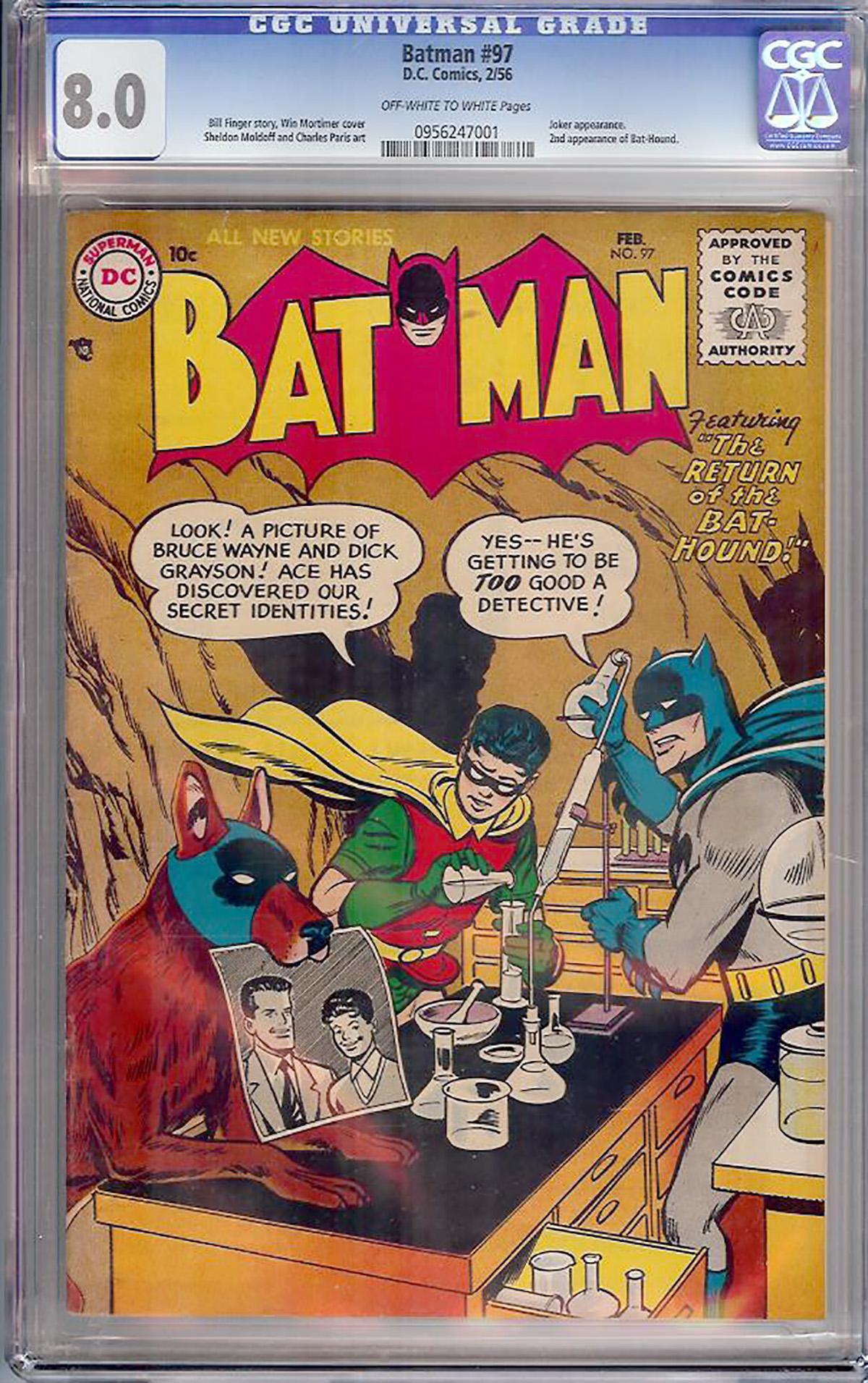 Batman #97 CGC 8.0 ow/w