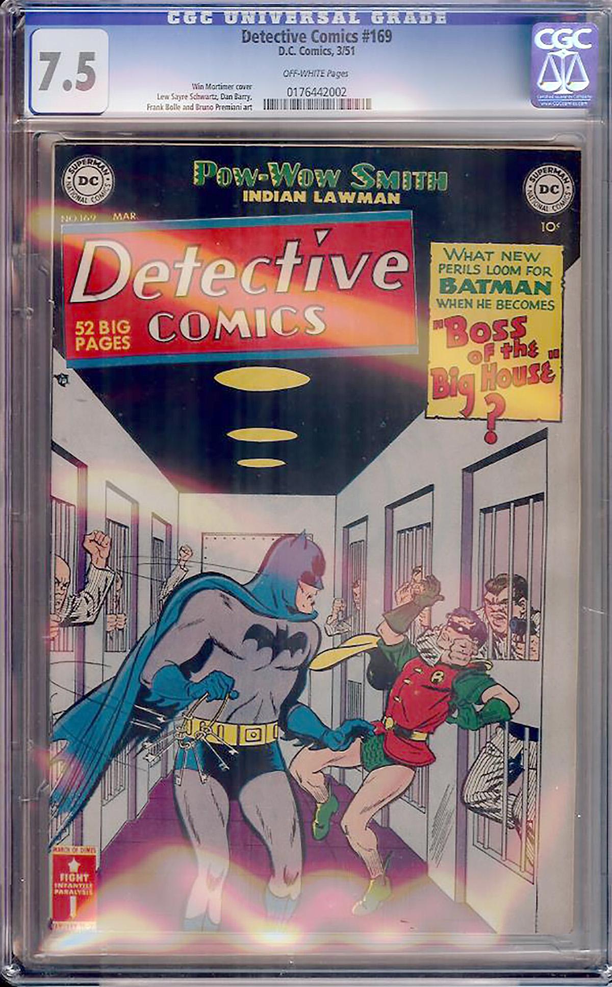 Detective Comics #169 CGC 7.5 ow
