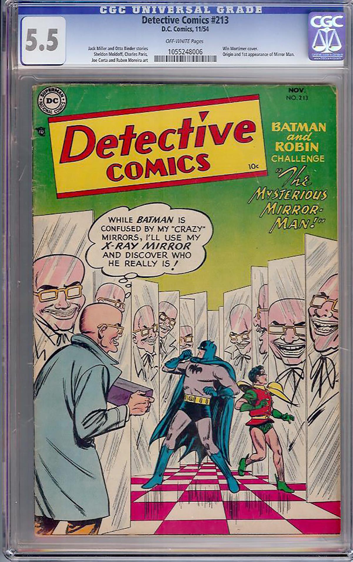 Detective Comics #213 CGC 5.5 ow