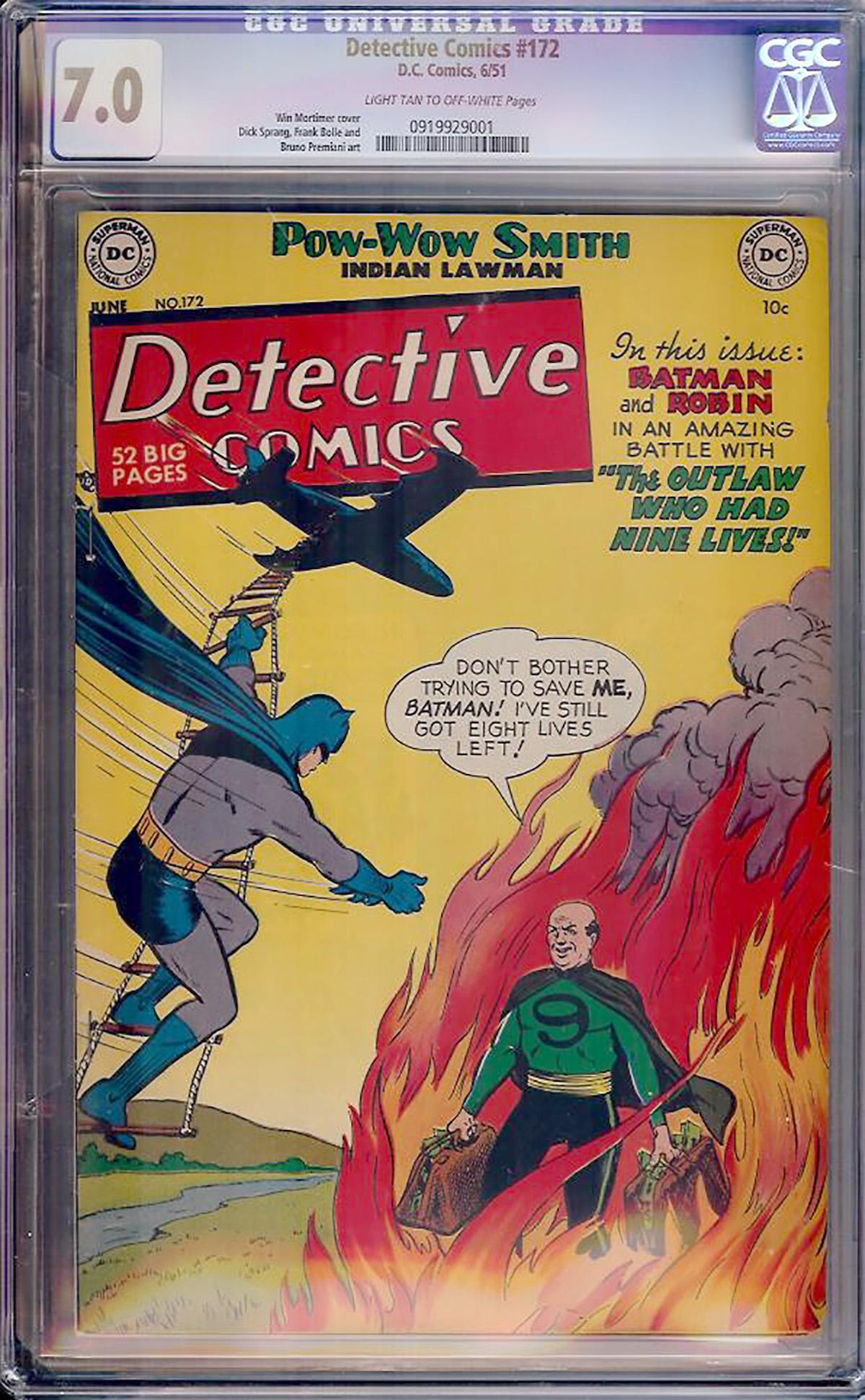 Detective Comics #172 CGC 7.0 lt/ow