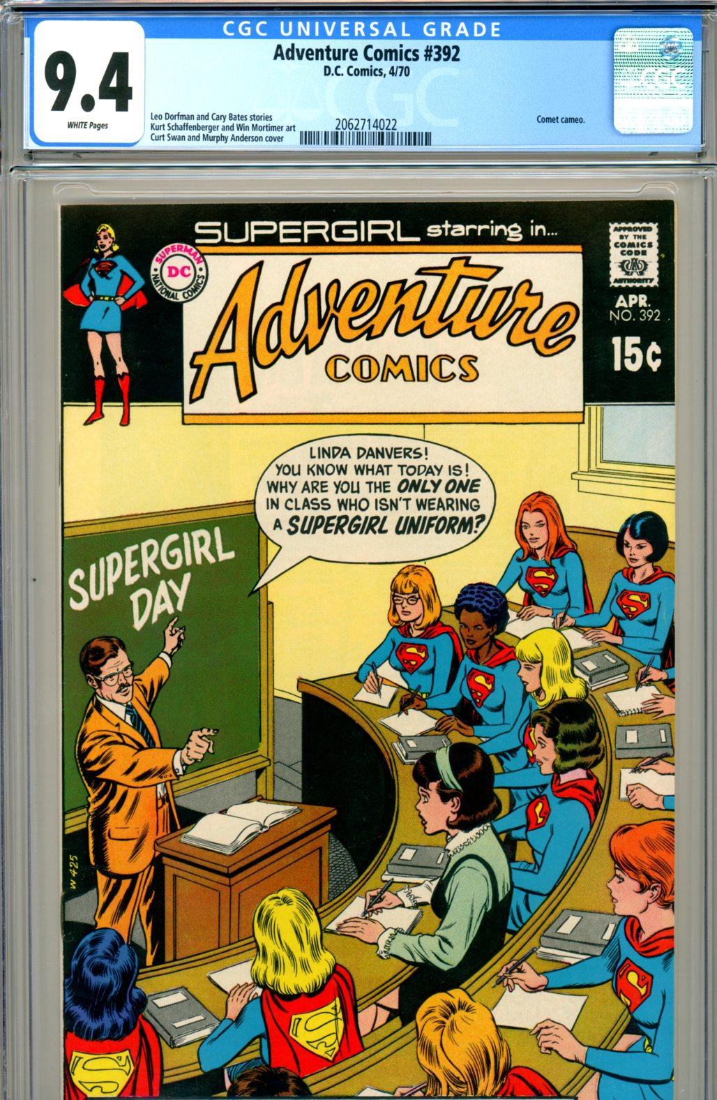 Adventure Comics #392 CGC 9.4 w