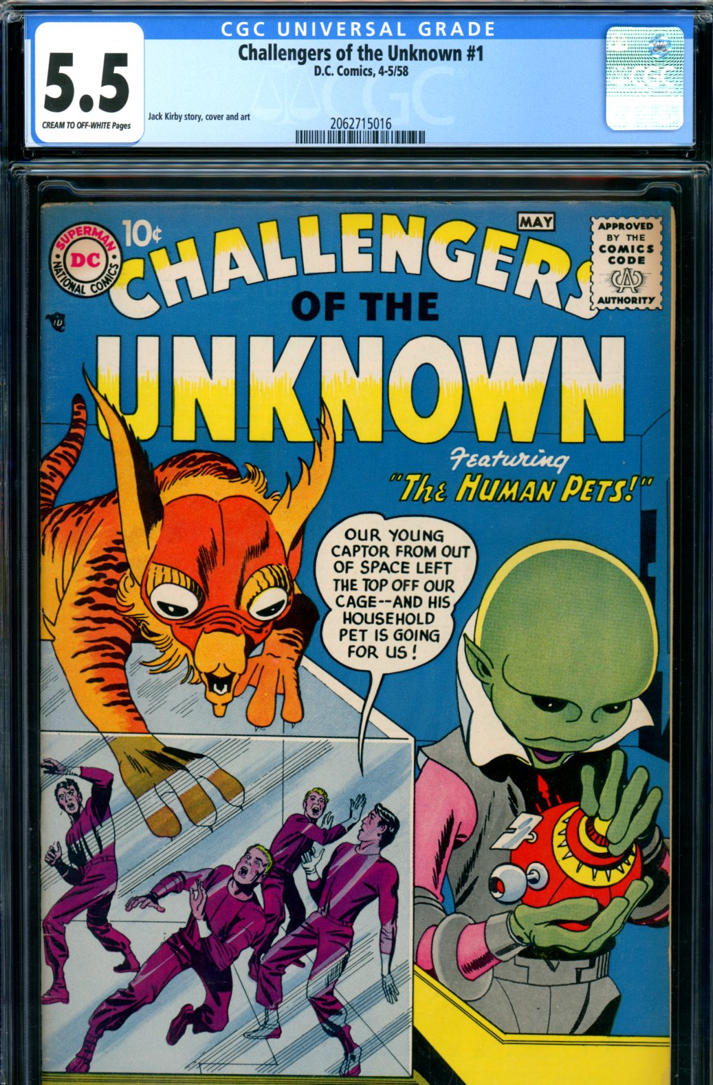 Challengers of the Unknown #1 CGC 5.5 cr/ow