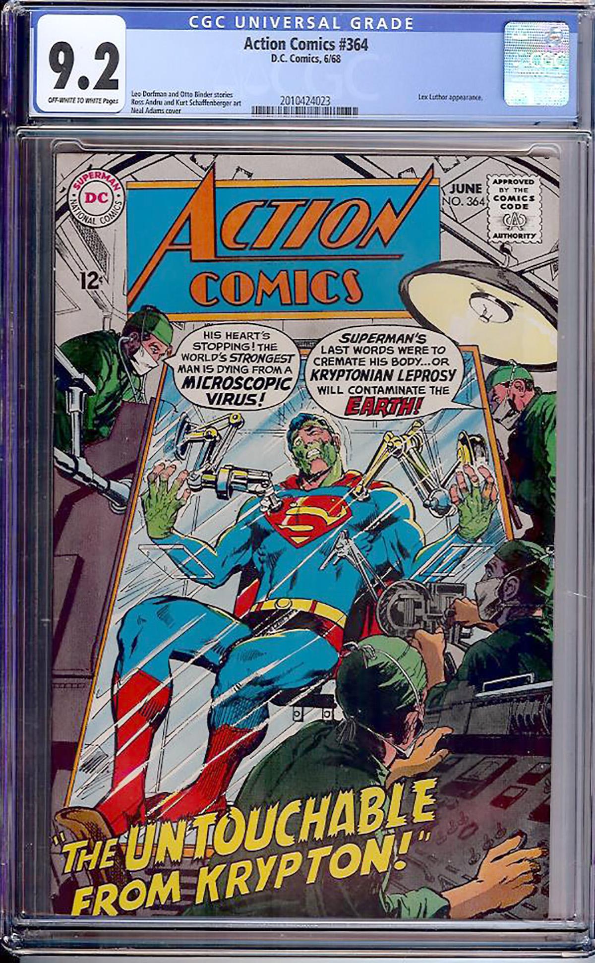 Action Comics #364 CGC 9.2 ow/w