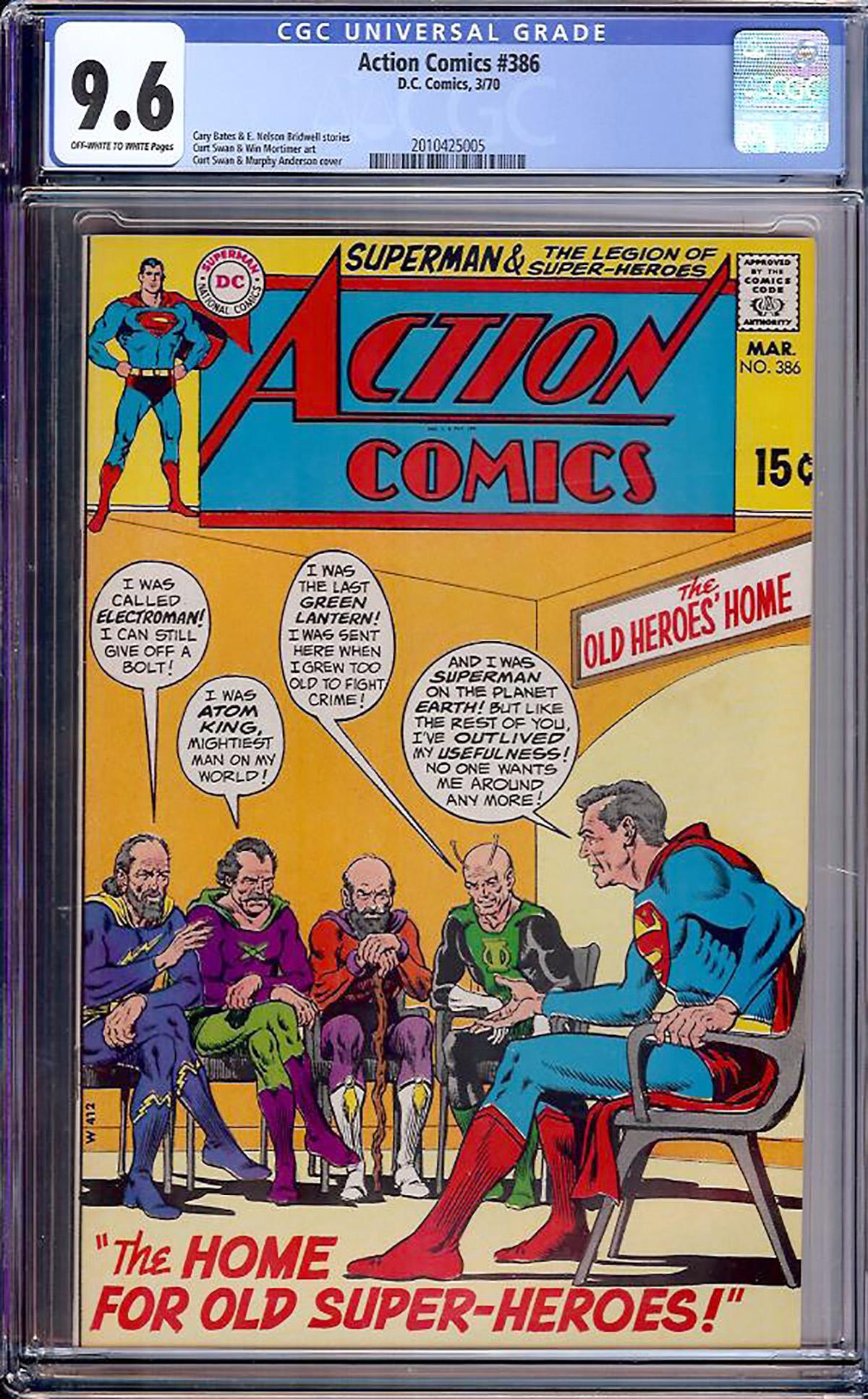 Action Comics #386 CGC 9.6 ow/w
