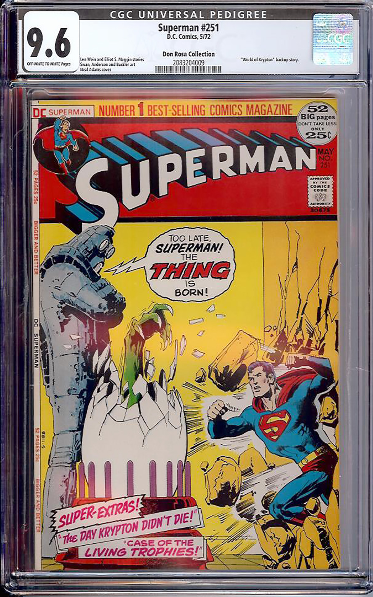 Superman #251 CGC 9.6 ow/w Don Rosa Collection