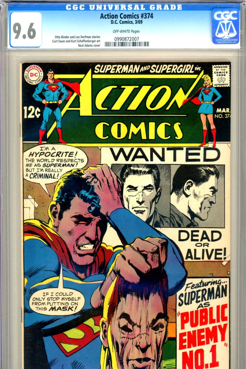 Action Comics #374 CGC 9.6 ow