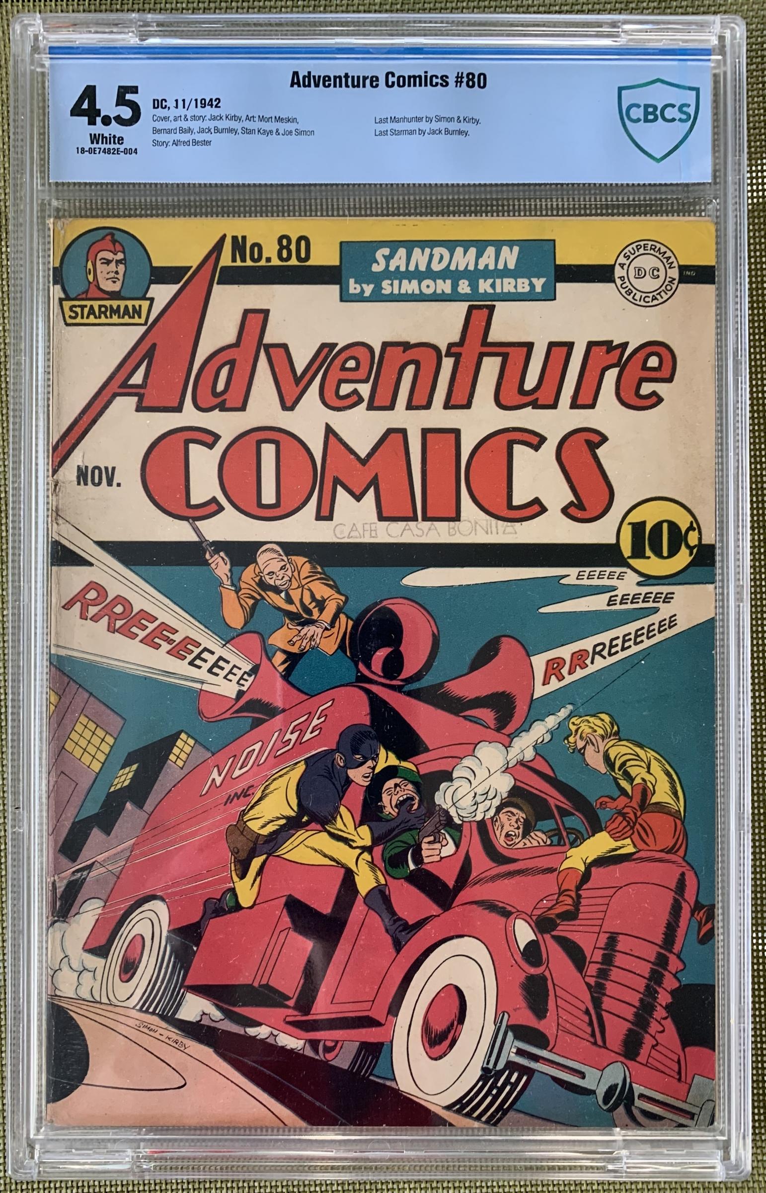 Adventure Comics #80 CBCS 4.5 n/a