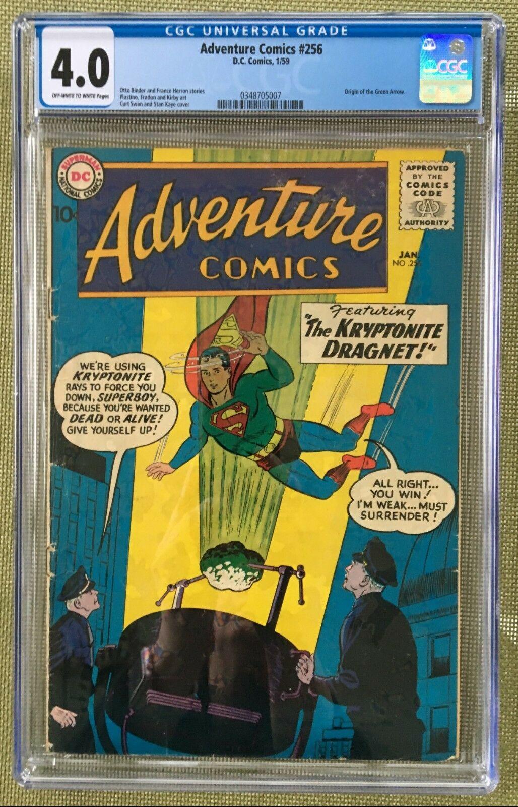 Adventure Comics #256 CGC 4.0 ow/w
