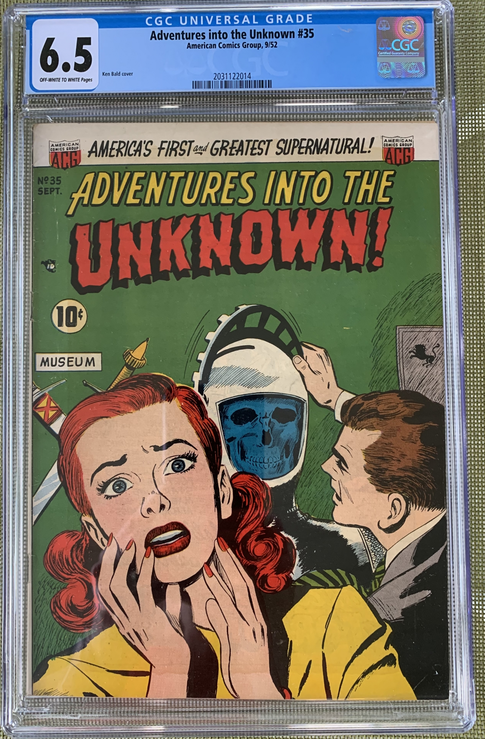 Adventures into the Unknown #35 CGC 6.5 ow/w