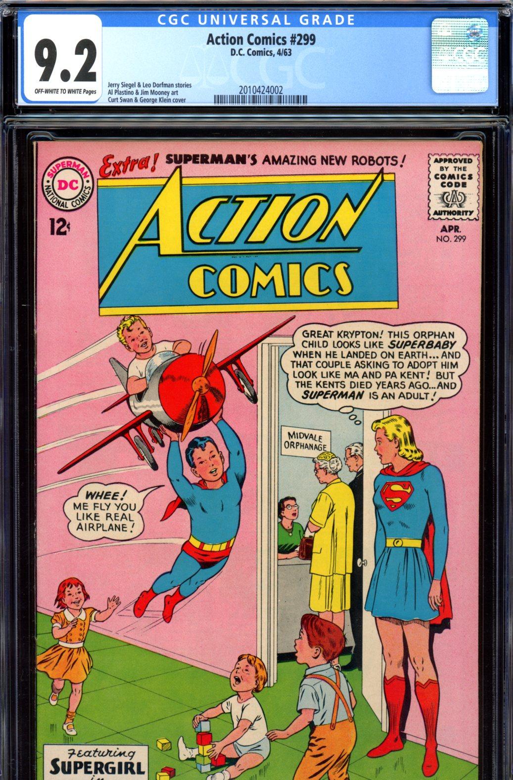 Action Comics #299 CGC 9.2 ow/w