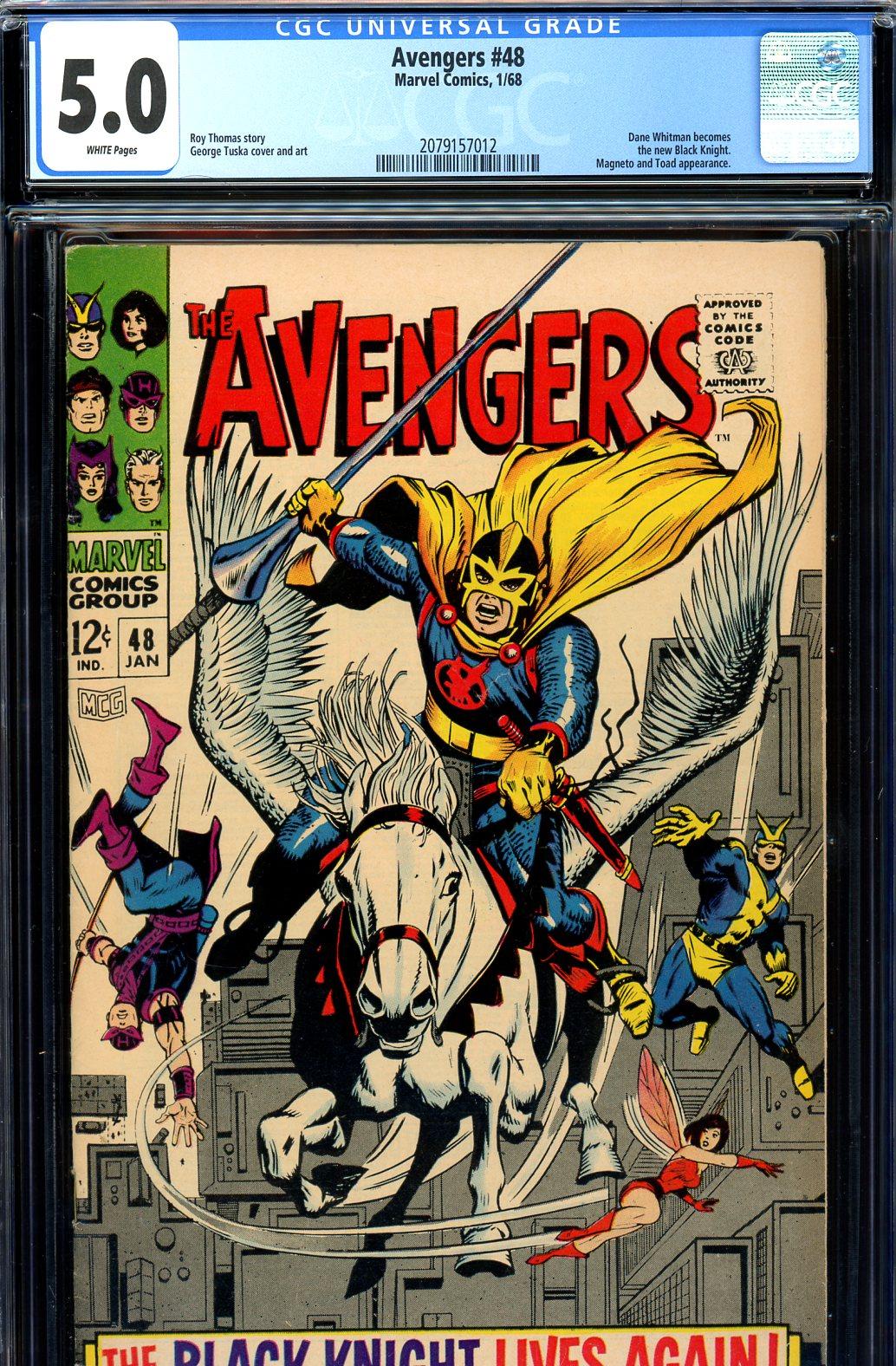 Avengers #48 CGC 5.0 w