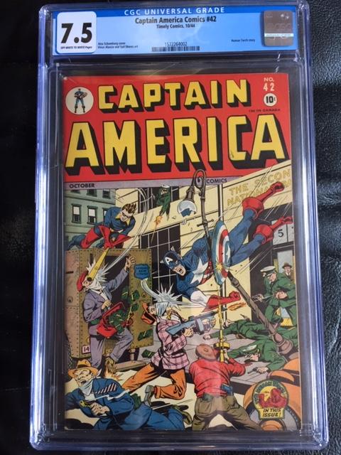 Captain America Comics #42 CGC 7.5 ow/w