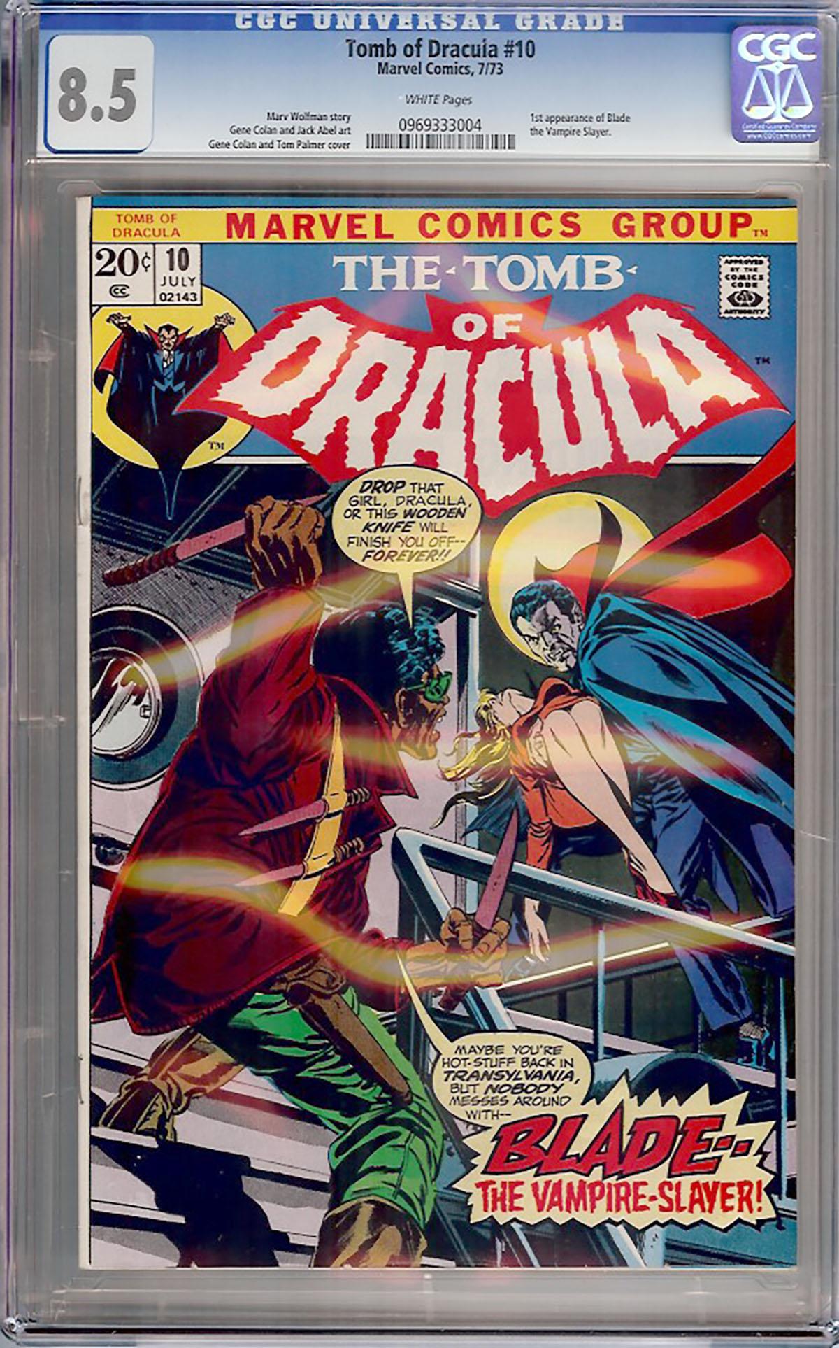 Tomb of Dracula #10 CGC 8.5 w