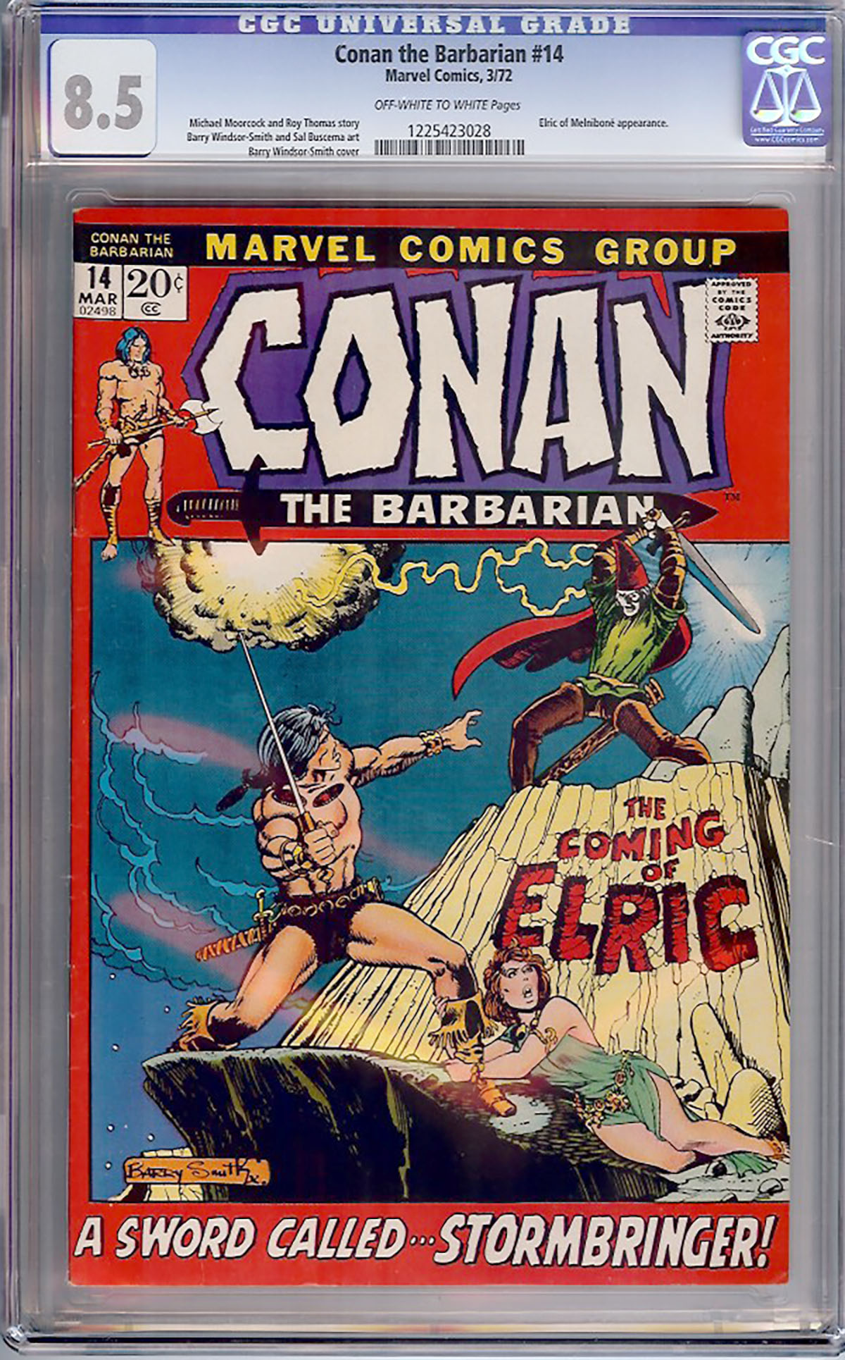 Conan The Barbarian #14 CGC 8.5 ow/w