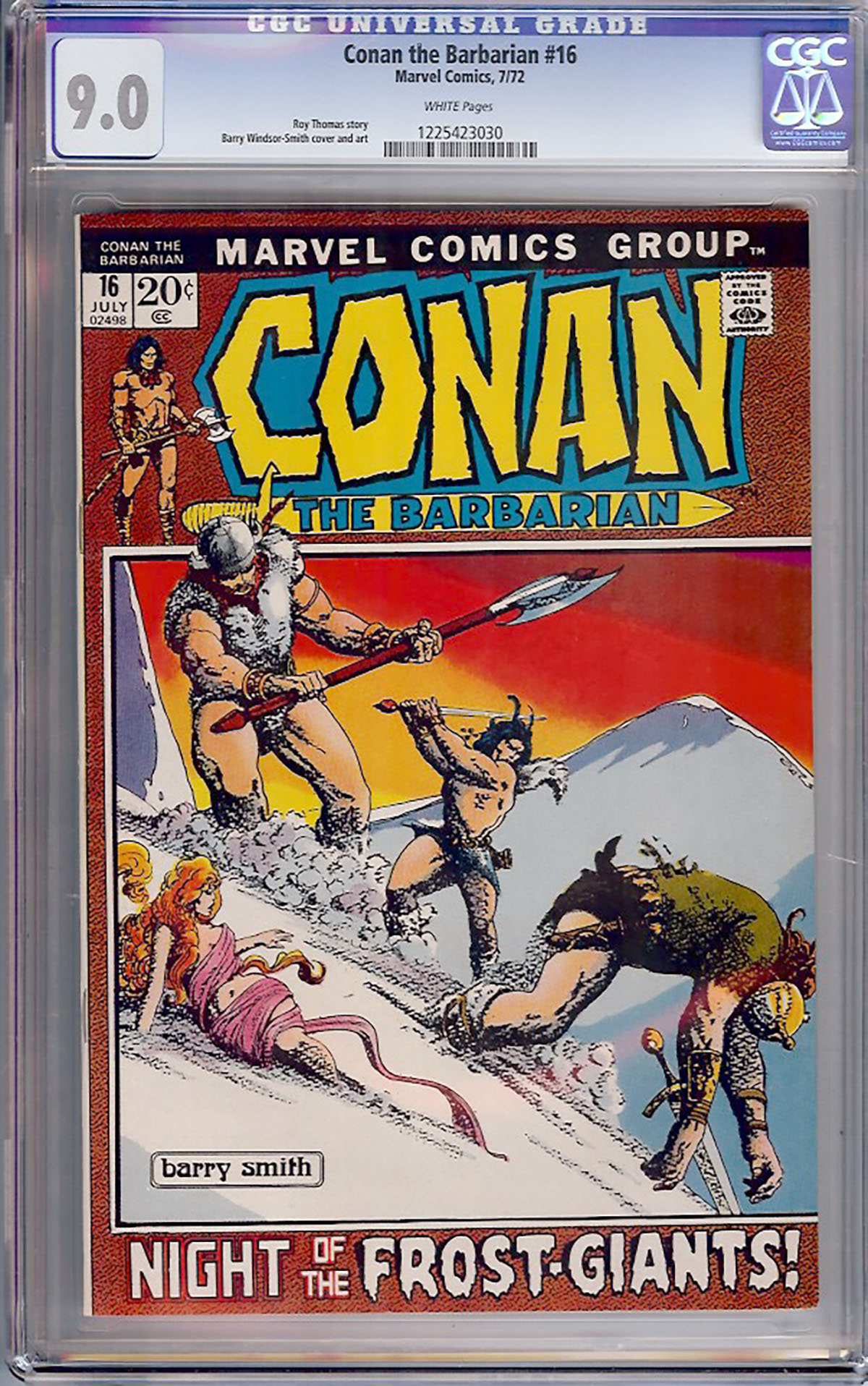 Conan The Barbarian #16 CGC 9.0 w