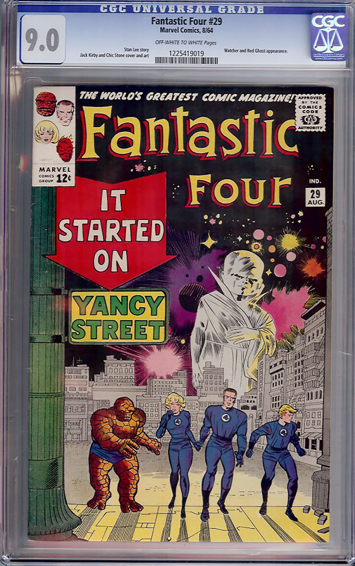 Fantastic Four #29 CGC 9.0 ow/w