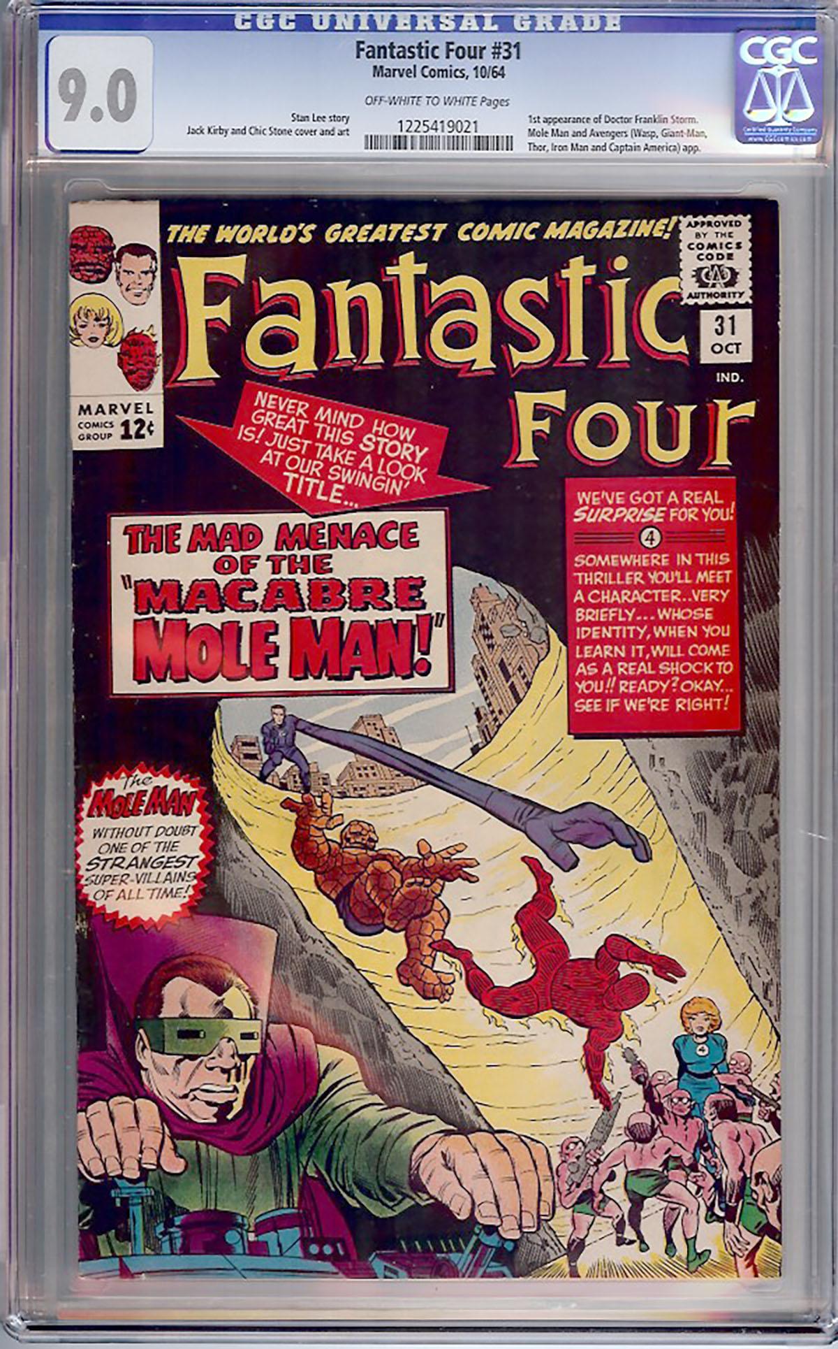 Fantastic Four #31 CGC 9.0 ow/w