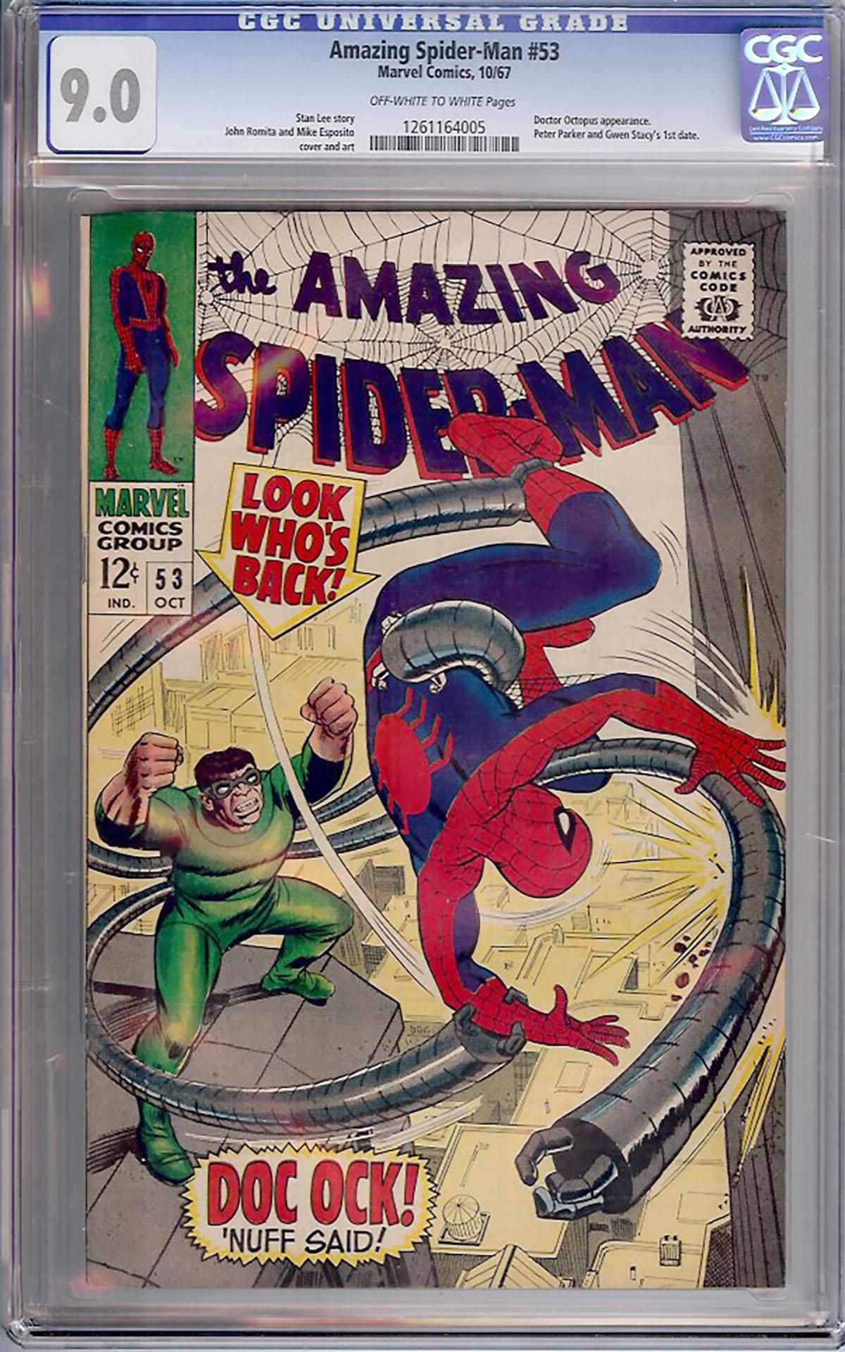 Amazing Spider-Man #53 CGC 9.0 ow/w