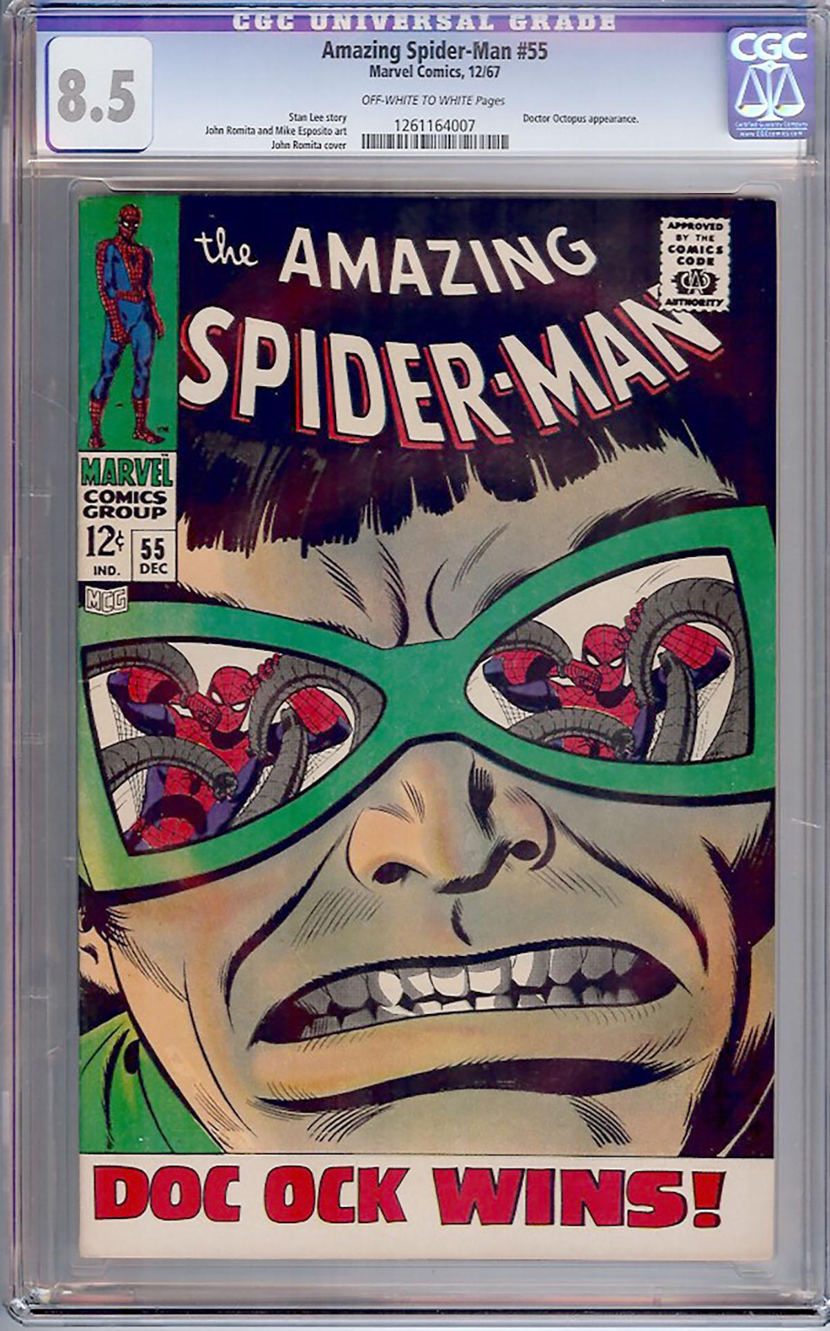Amazing Spider-Man #55 CGC 8.5 ow/w