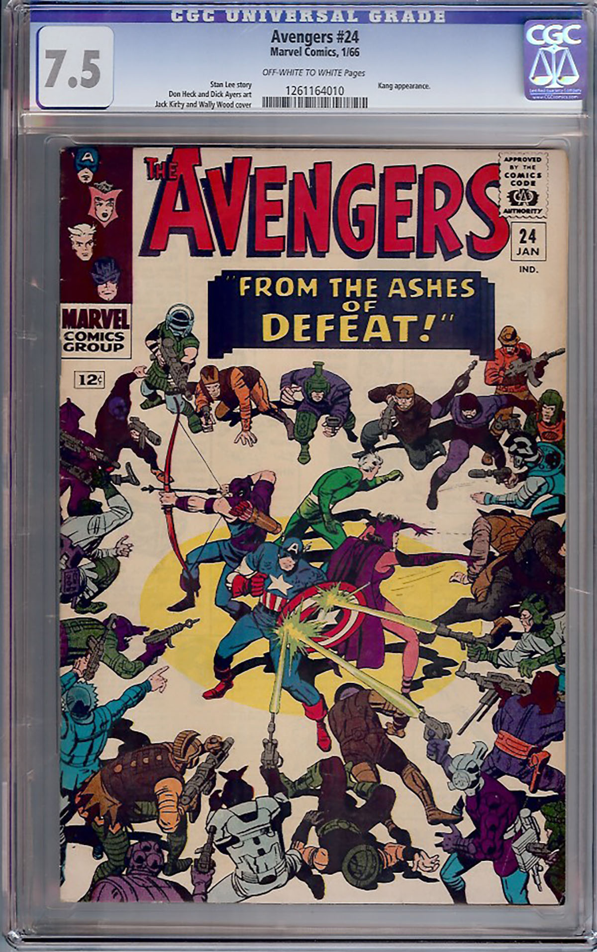 Avengers #24 CGC 7.5 ow/w