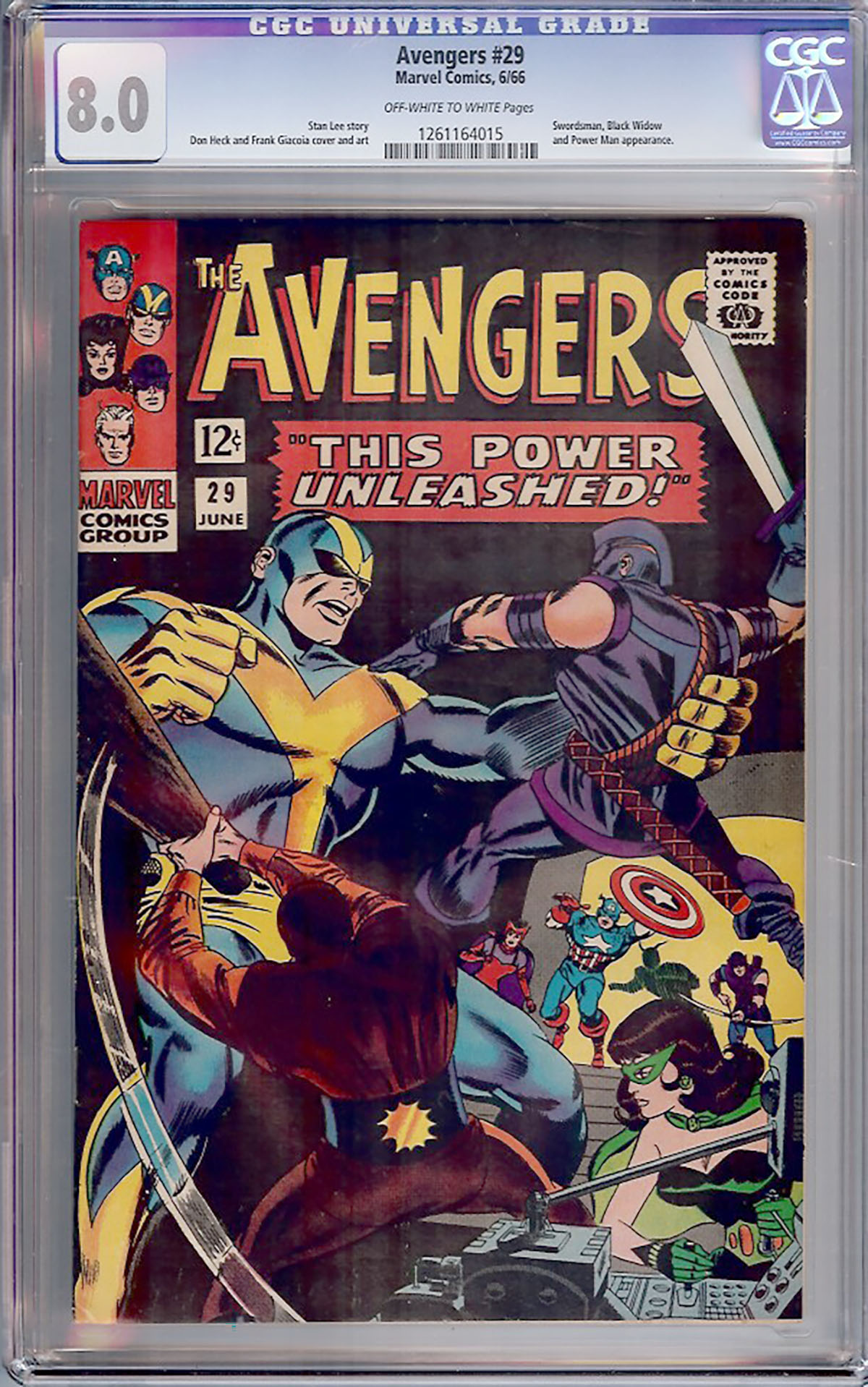 Avengers #29 CGC 8.0 ow/w