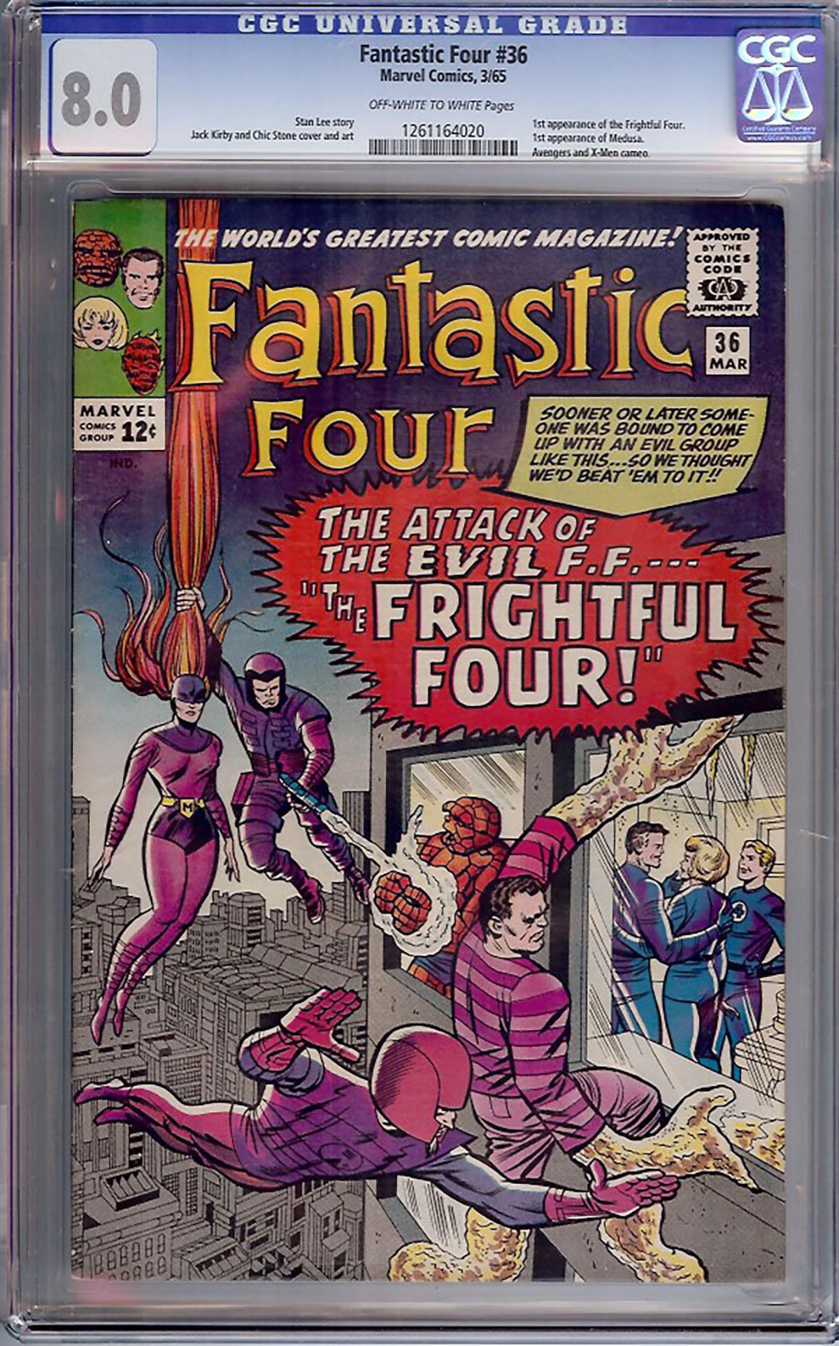 Fantastic Four #36 CGC 8.0 ow/w