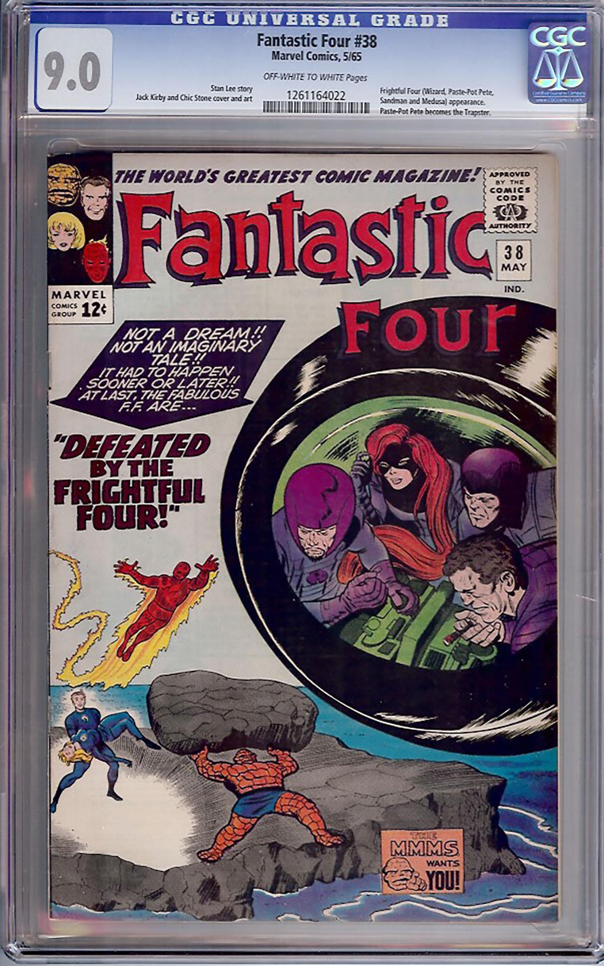 Fantastic Four #38 CGC 9.0 w