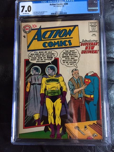 Action Comics #236 CGC 7.0 ow