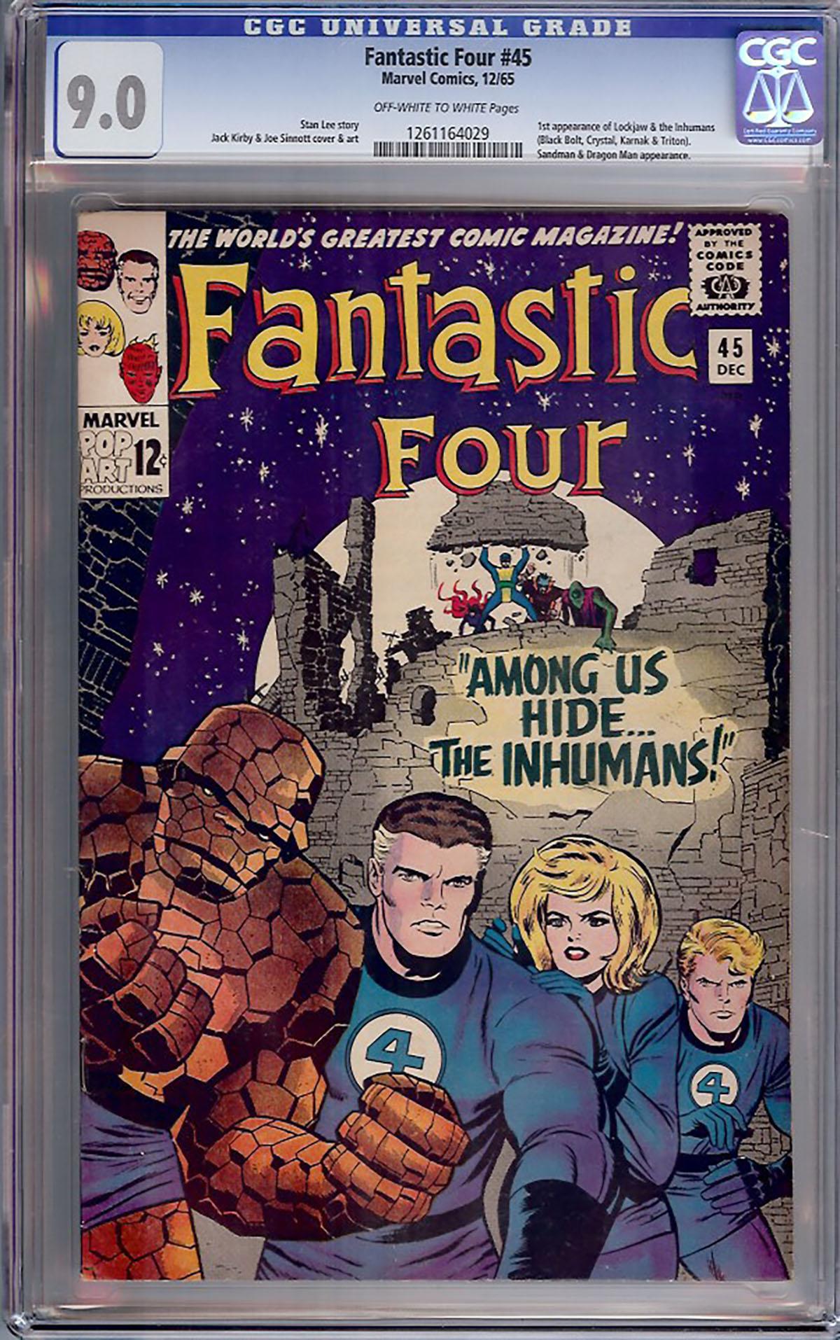 Fantastic Four #45 CGC 9.0 ow/w