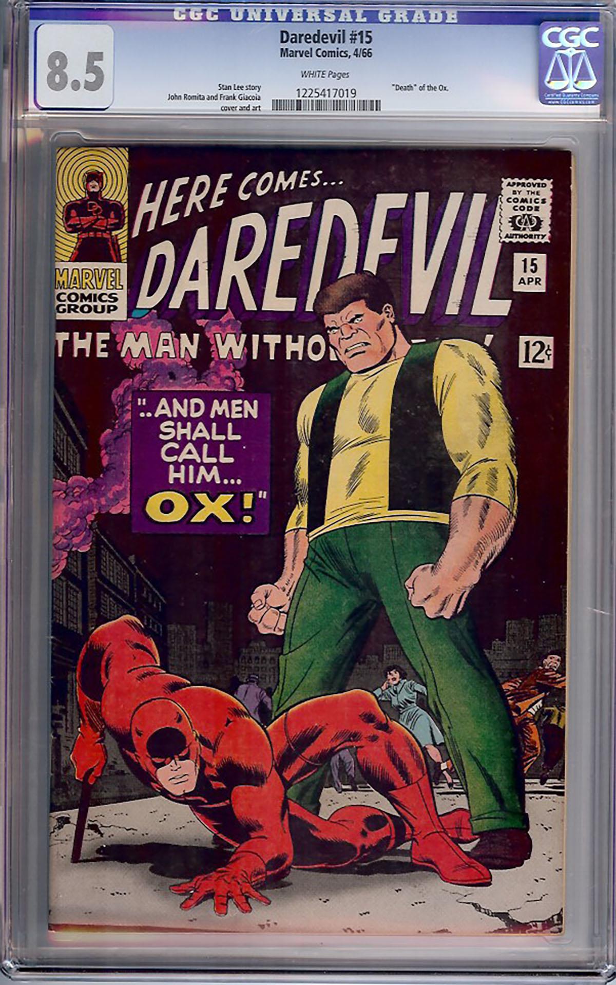 Daredevil #15 CGC 8.5 w