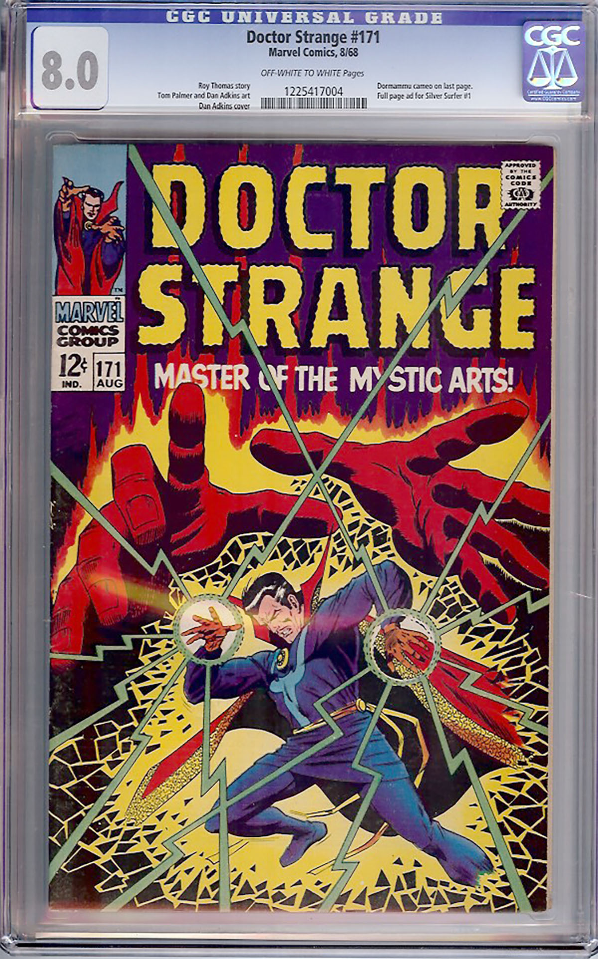 Doctor Strange #171 CGC 8.0 ow/w