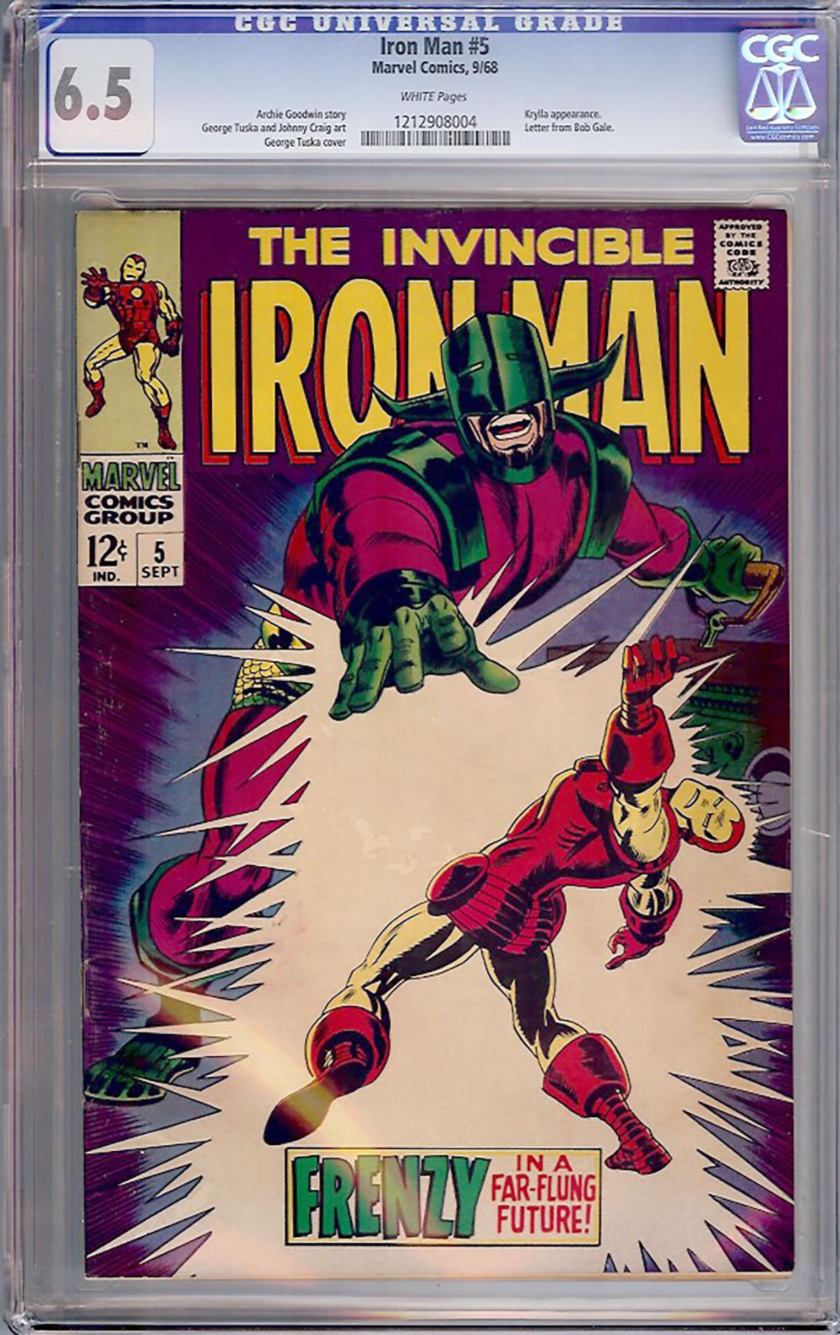 Iron Man #5 CGC 6.5 w