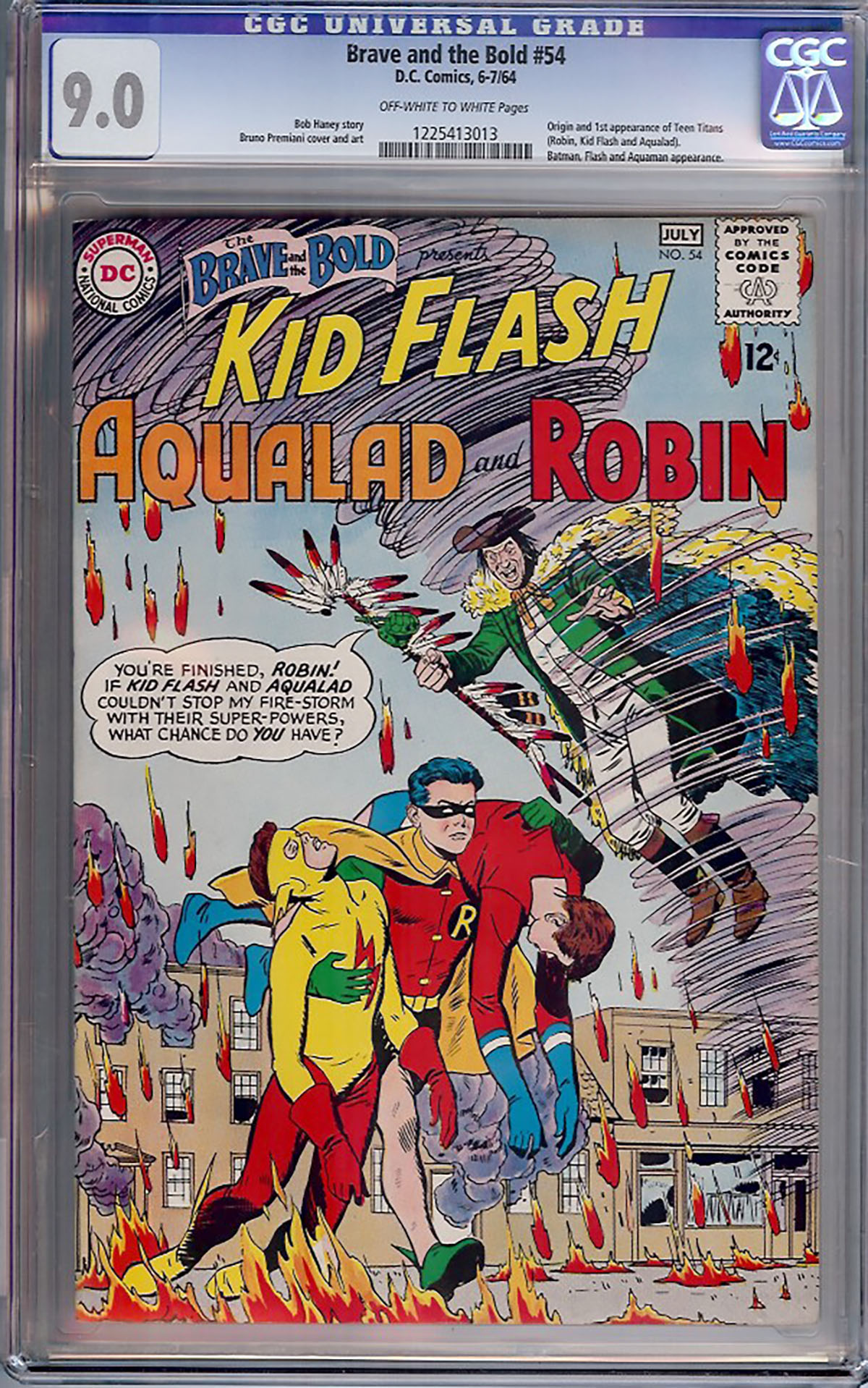 Brave and the Bold #54 CGC 9.0 ow/w