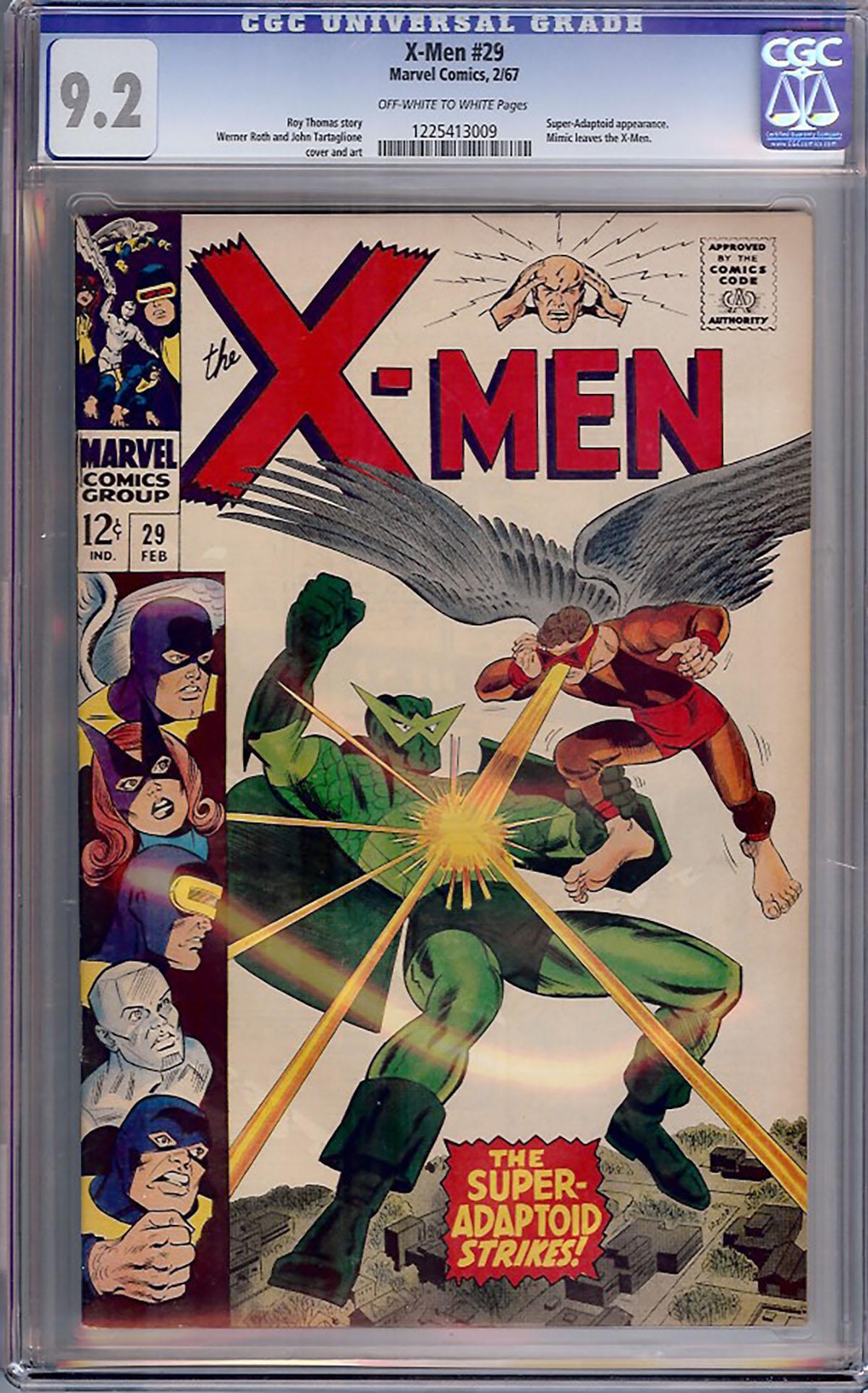 X-Men #29 CGC 9.2 ow/w