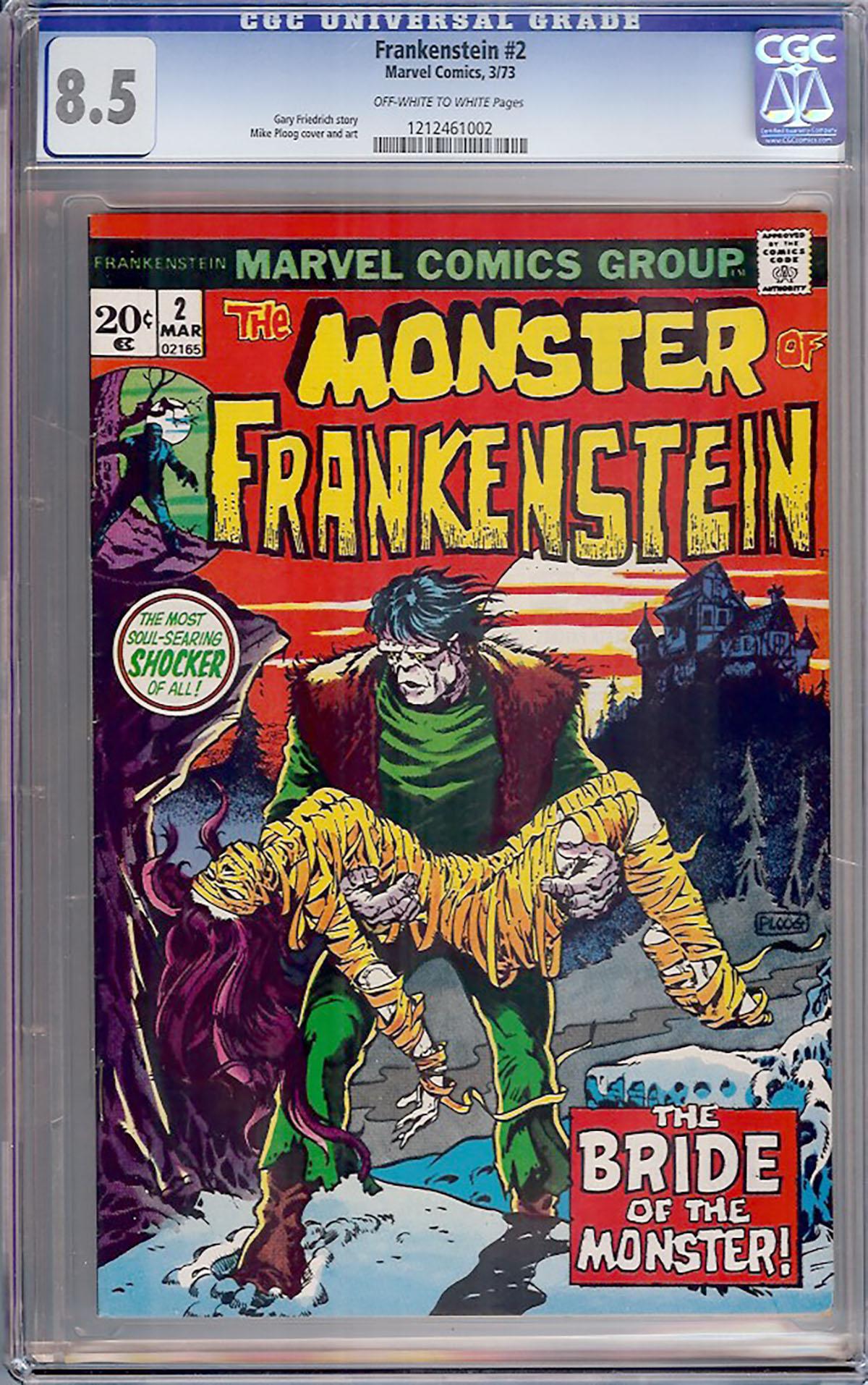 Frankenstein #2 CGC 8.5 ow/w