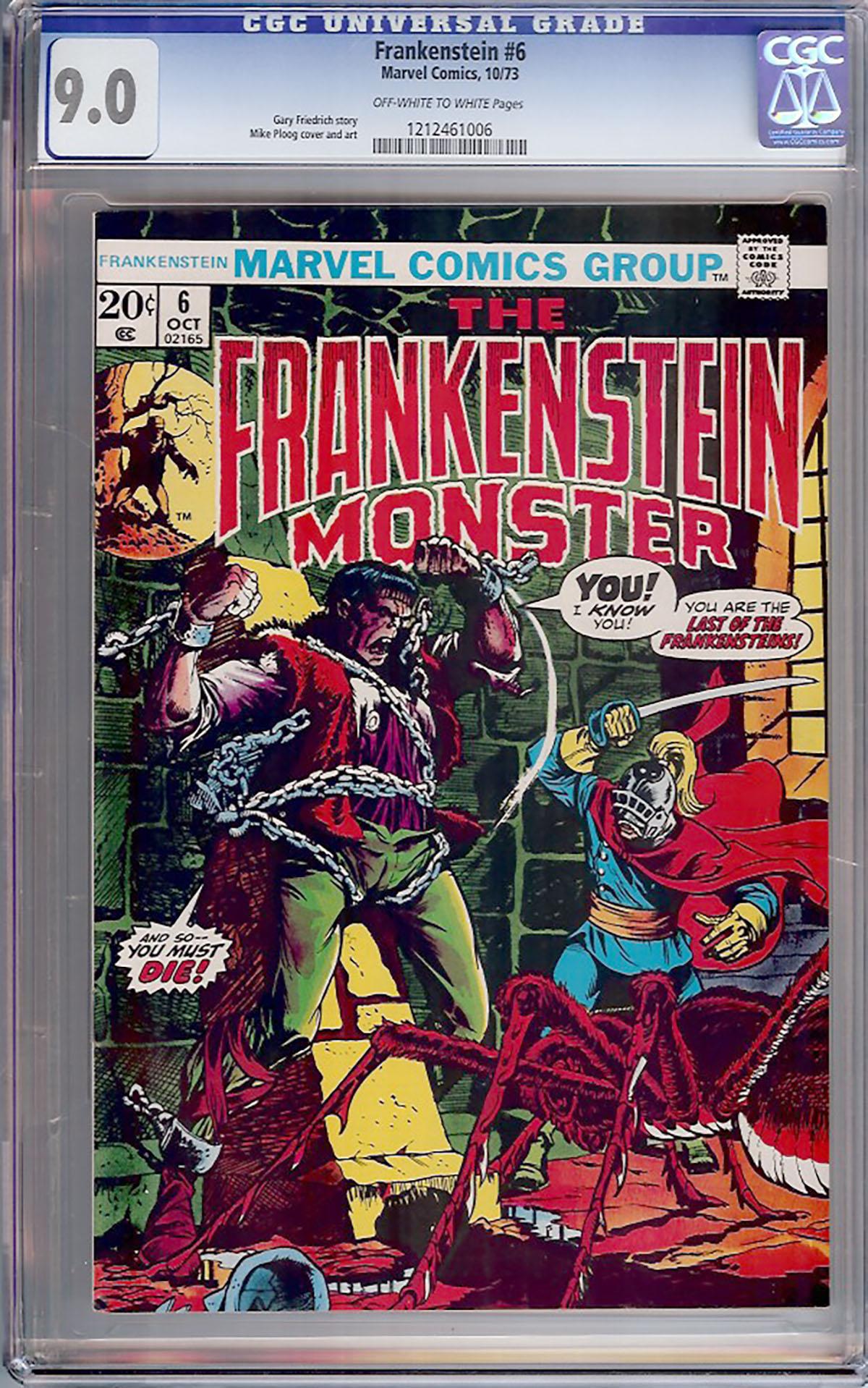 Frankenstein #6 CGC 9.0 ow/w