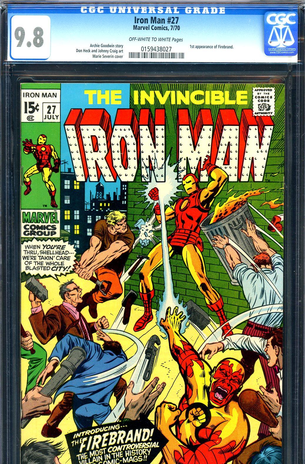 Iron Man #27 CGC 9.8 ow/w