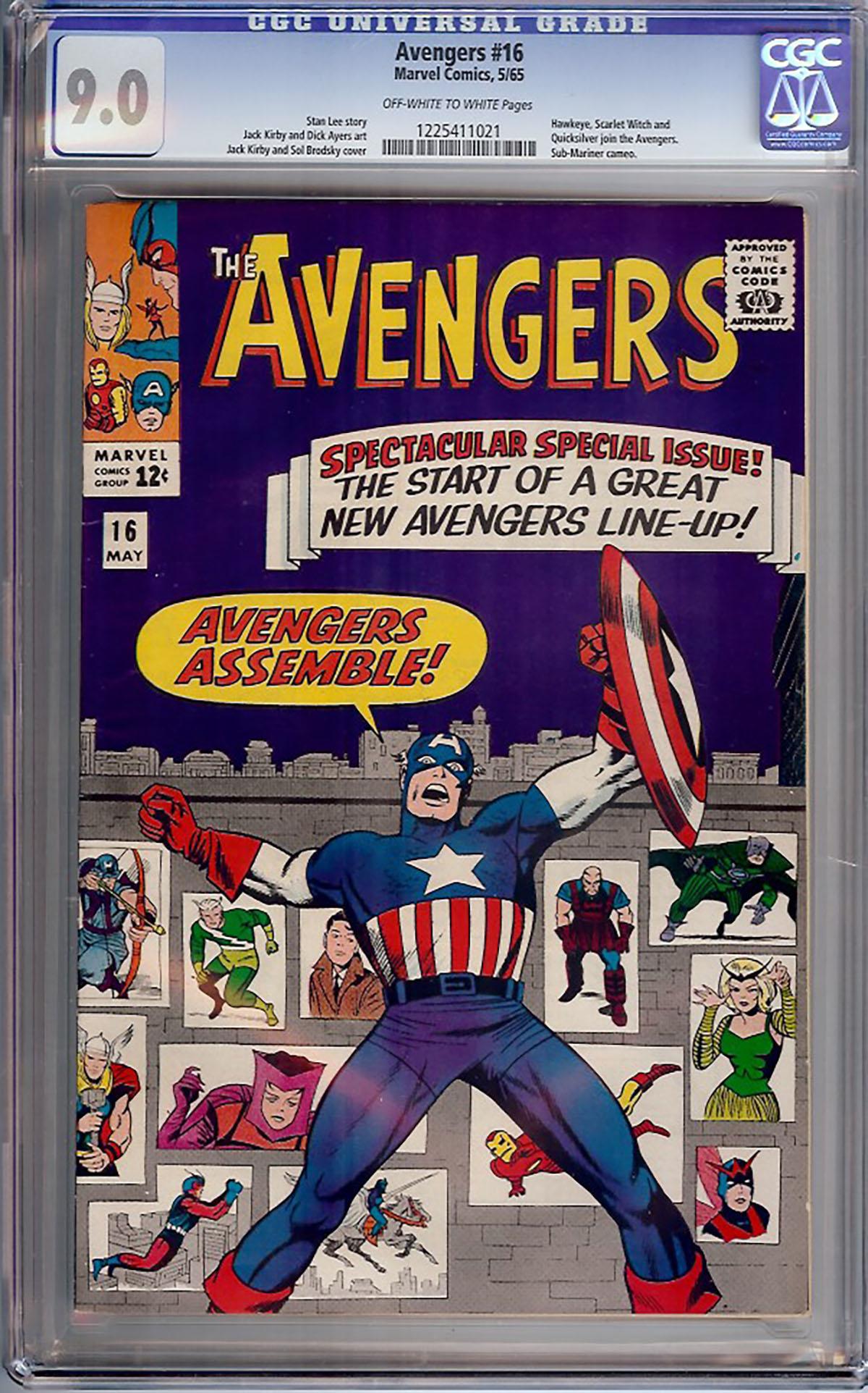 Avengers #16 CGC 9.0 ow/w