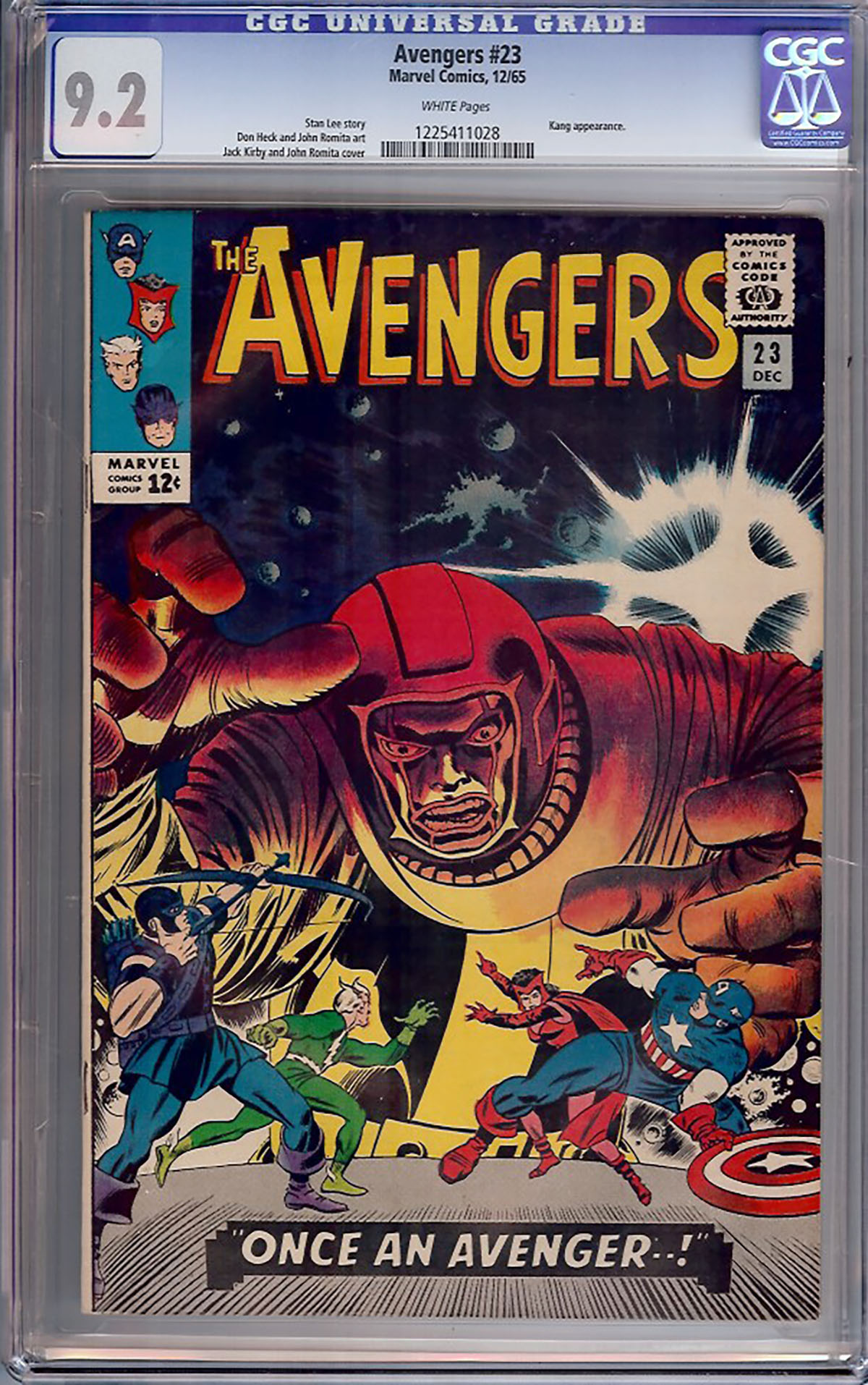 Avengers #23 CGC 9.2 w