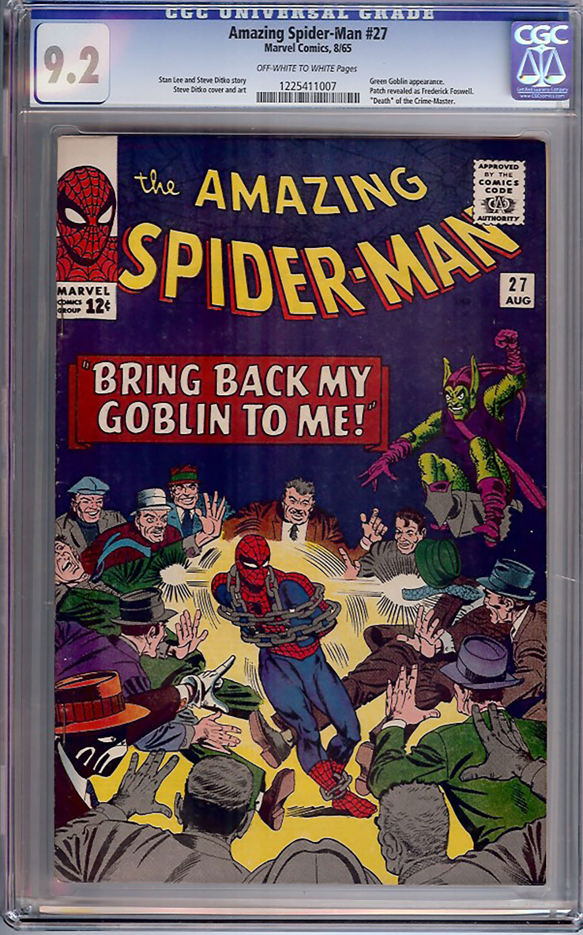 Amazing Spider-Man #27 CGC 9.2 ow/w