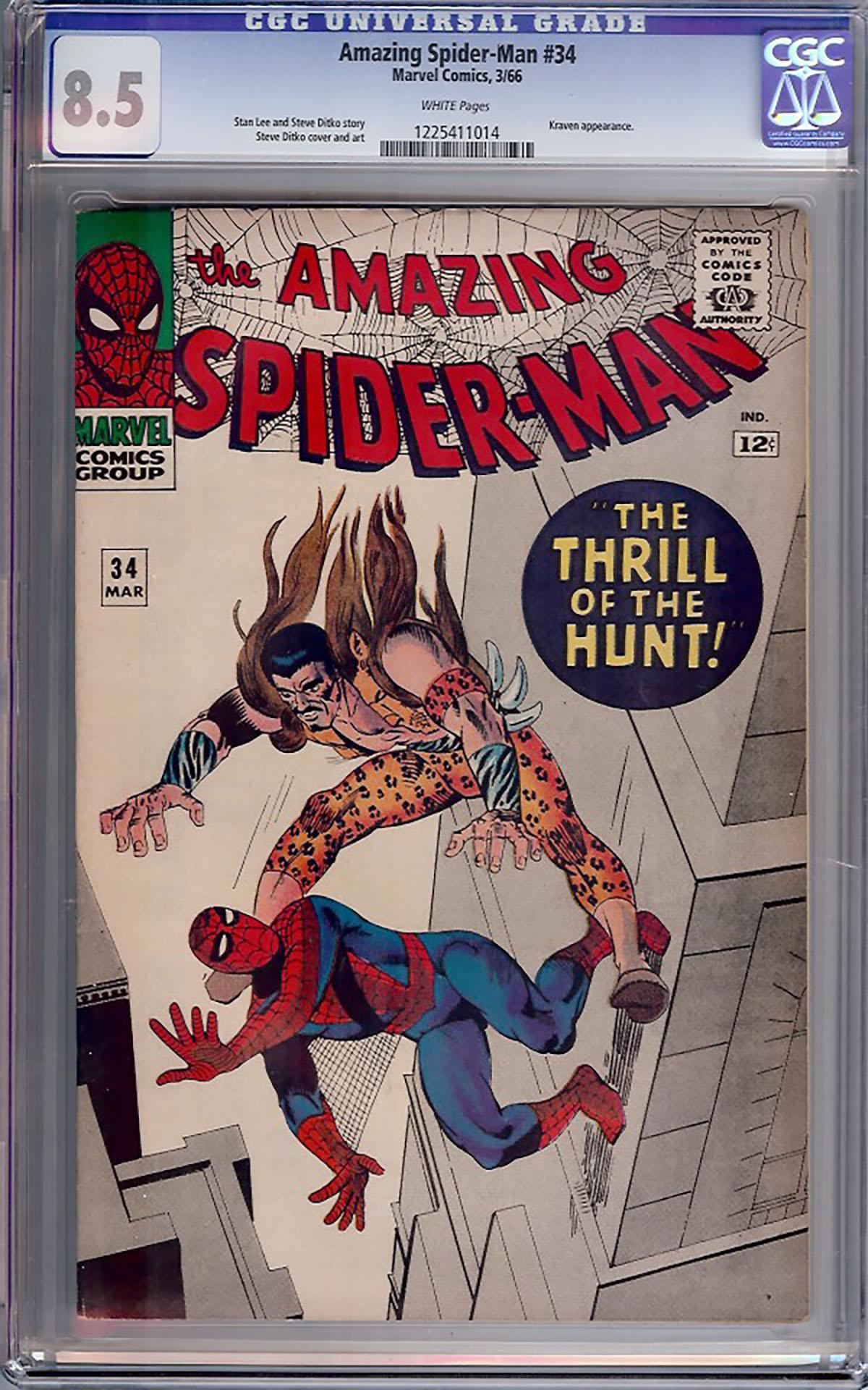 Amazing Spider-Man #34 CGC 8.5 w