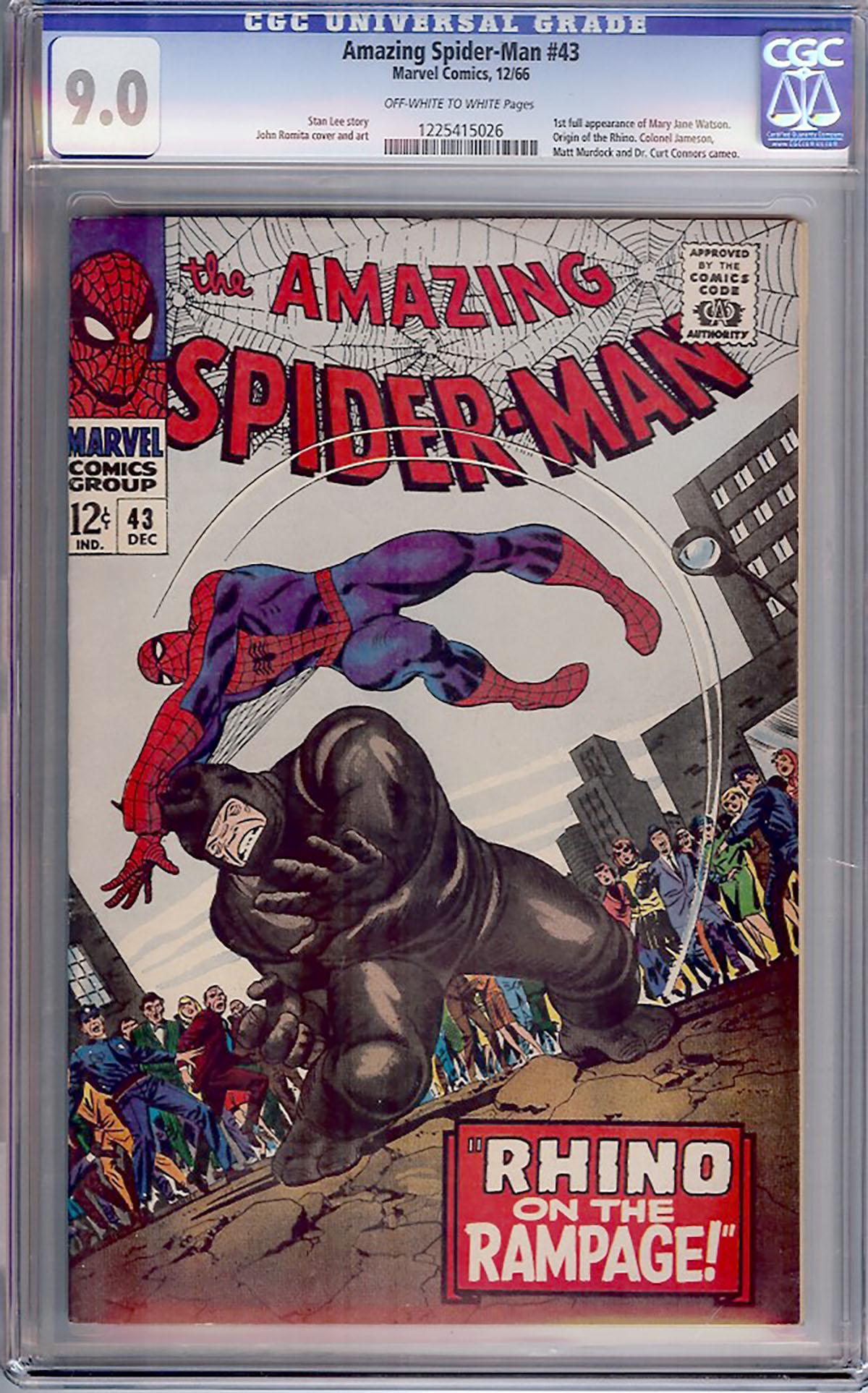 Amazing Spider-Man #43 CGC 9.0 ow/w