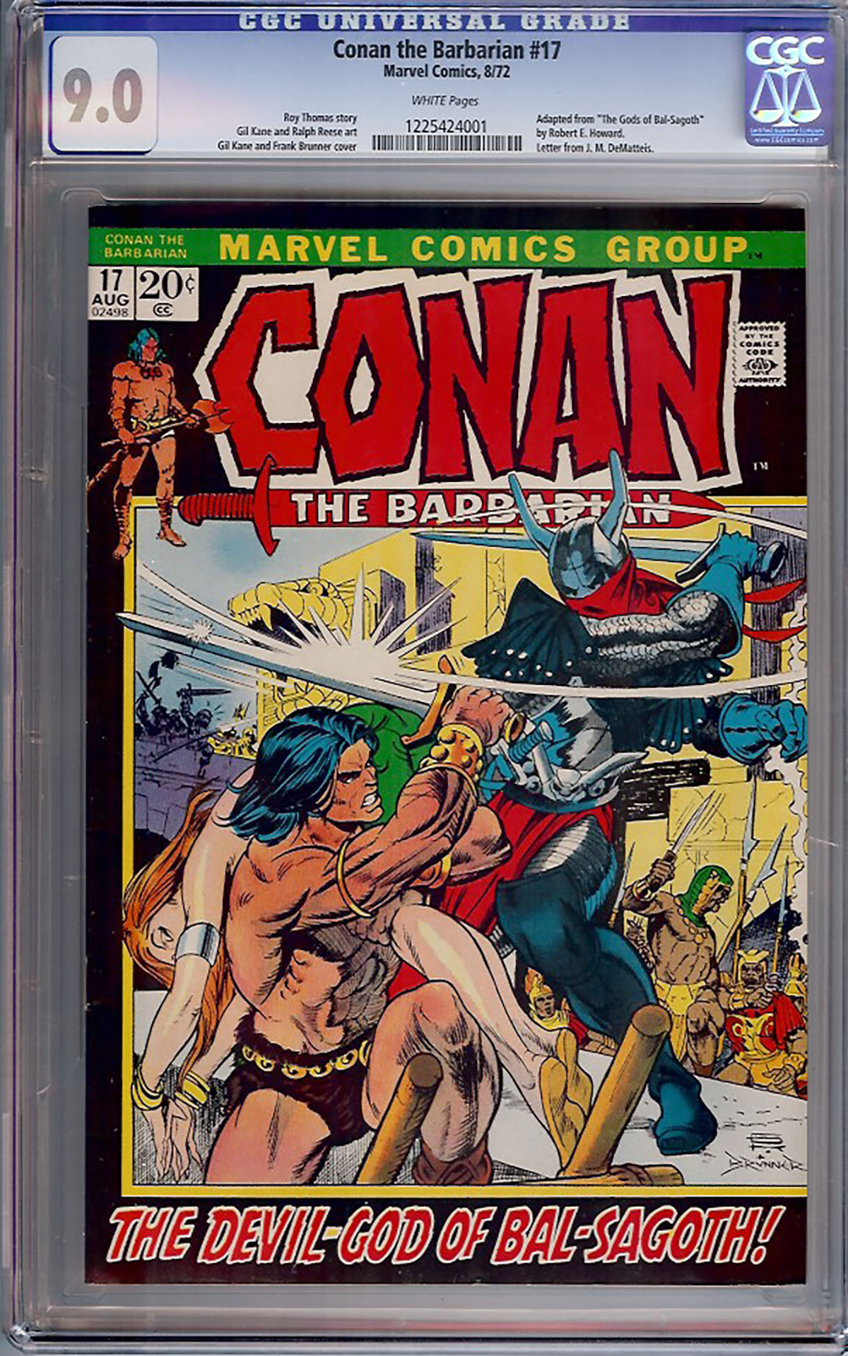 Conan The Barbarian #17 CGC 9.0 w