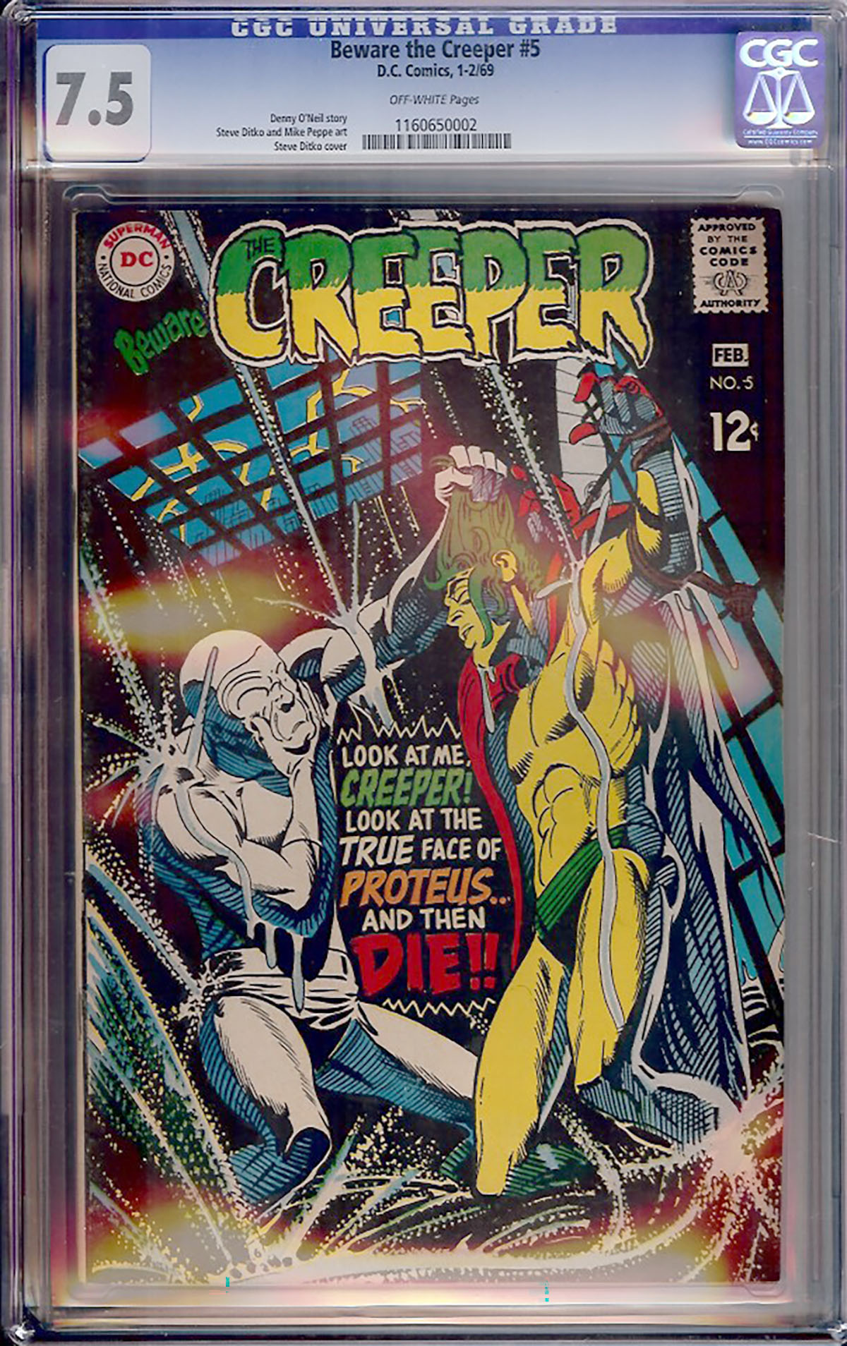 Beware the Creeper #5 CGC 7.5 w